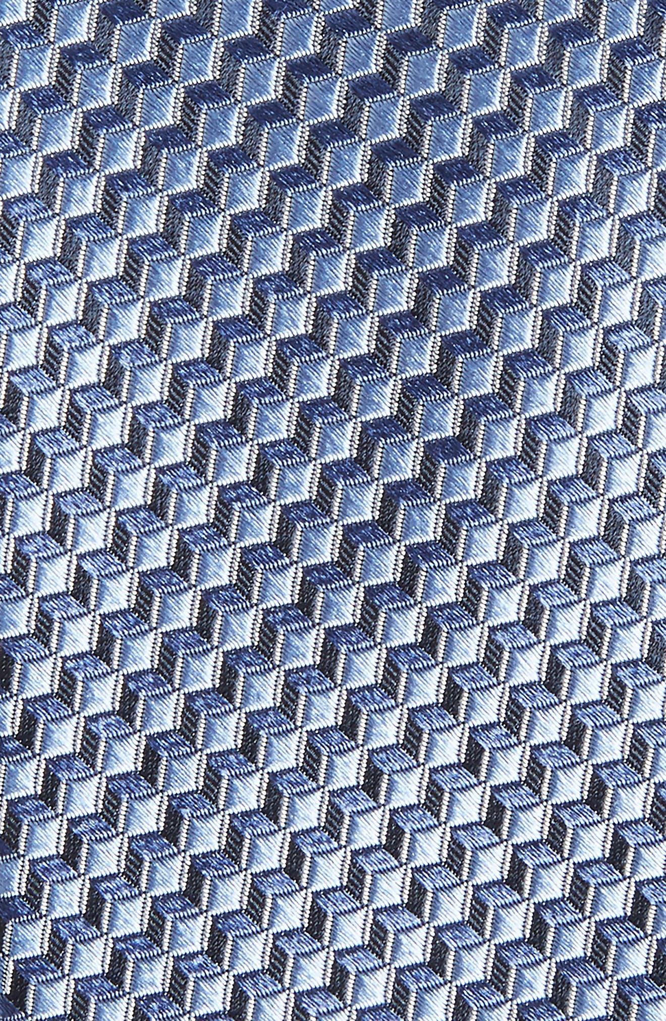 Doria Geometric Silk Tie,                             Alternate thumbnail 6, color,