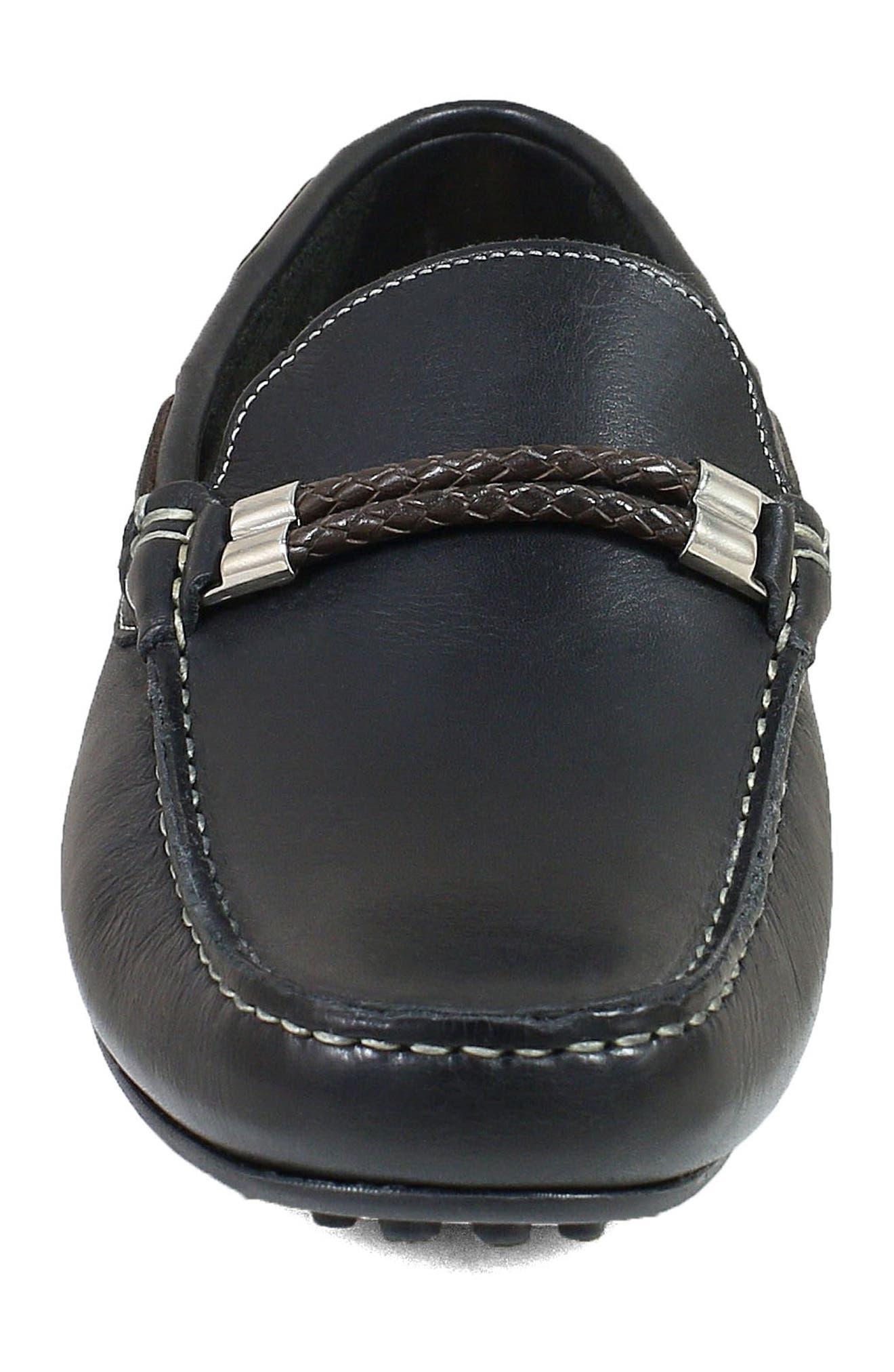 FLORSHEIM,                             Imperial Comet Driving Shoe,                             Alternate thumbnail 4, color,                             BLACK LEATHER