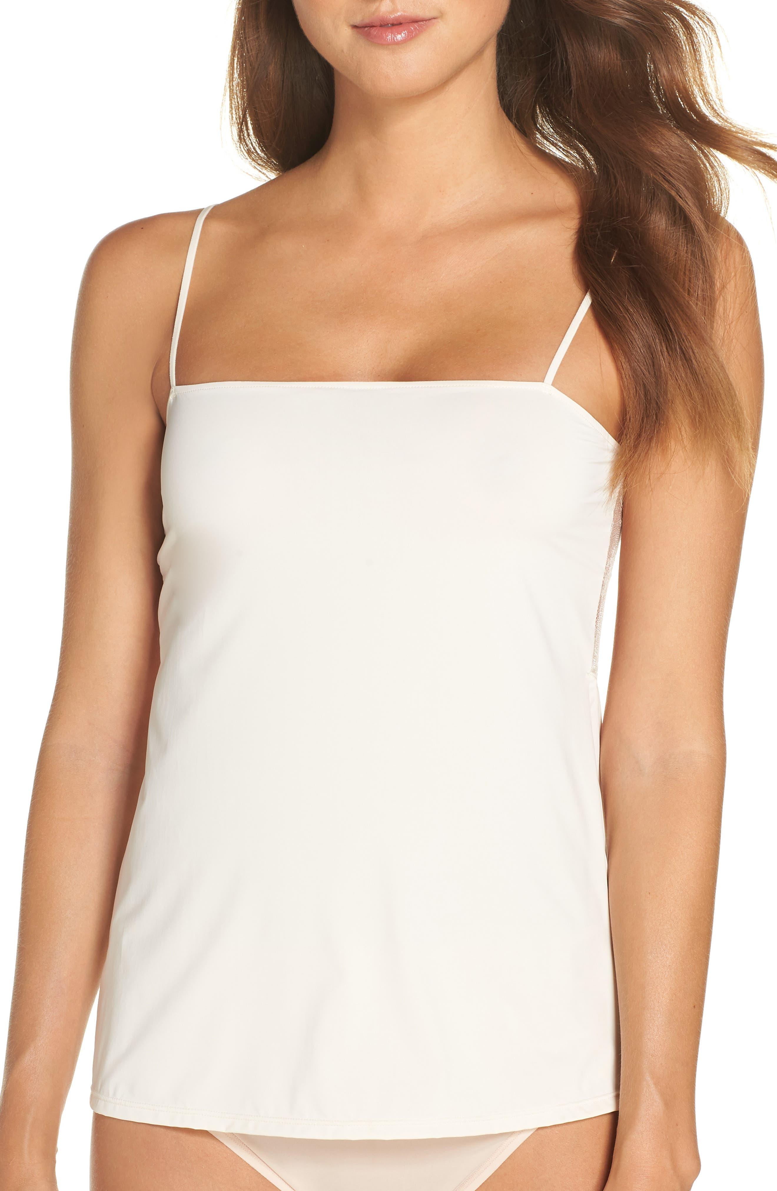 Natori Infinity Lace Back Camisole, Ivory