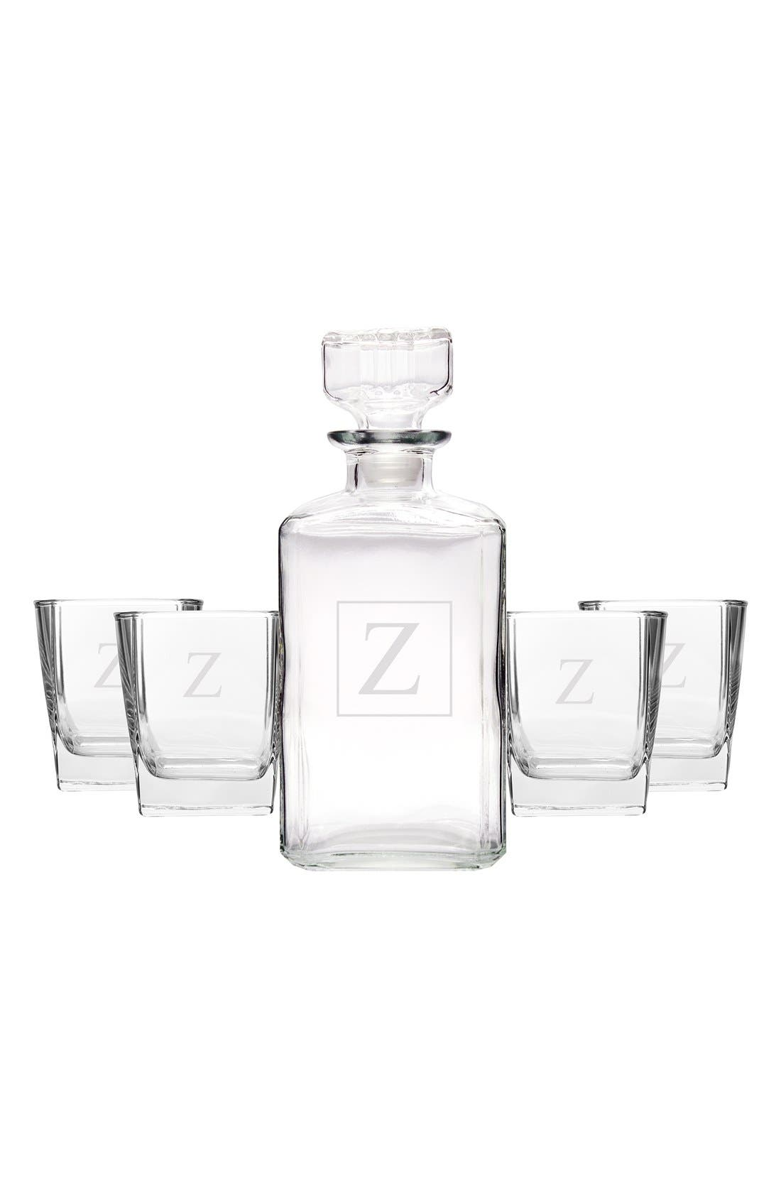 Monogram Five-Piece Decanter Set,                             Main thumbnail 1, color,                             Z