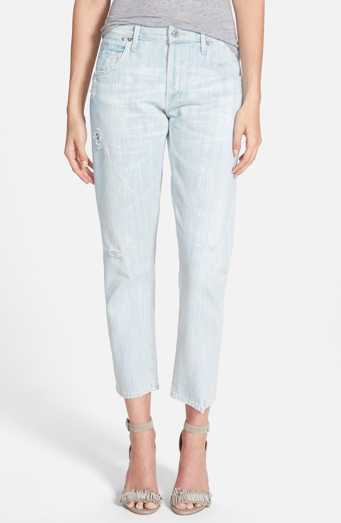 'Emerson' Slim Boyfriend Jeans,                             Main thumbnail 1, color,                             450