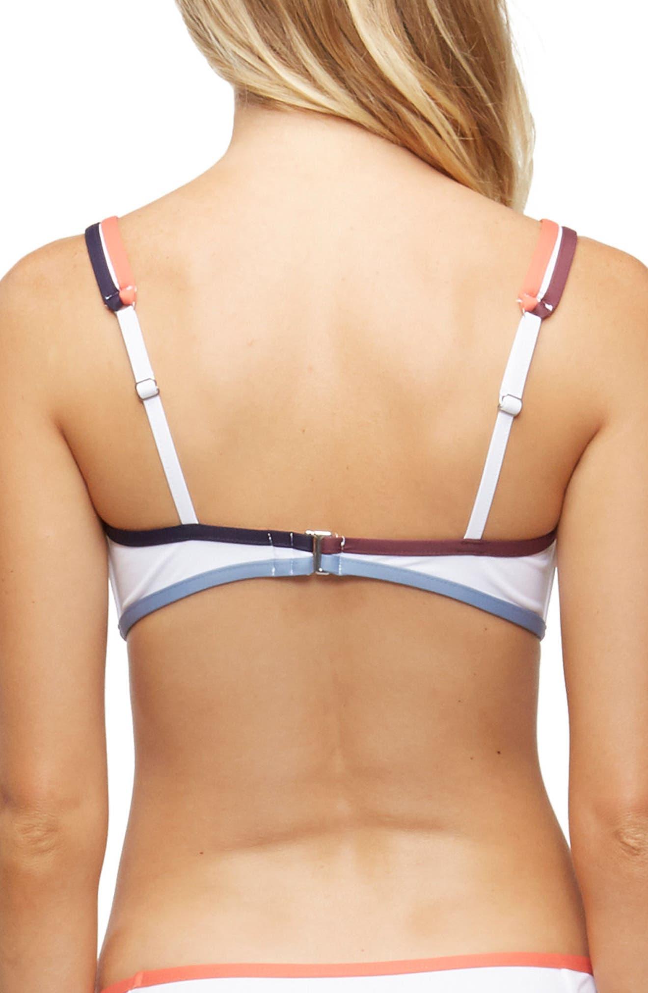 Marlowe Underwire Bikini Top,                             Alternate thumbnail 2, color,                             WHITE COLOR BLOCK