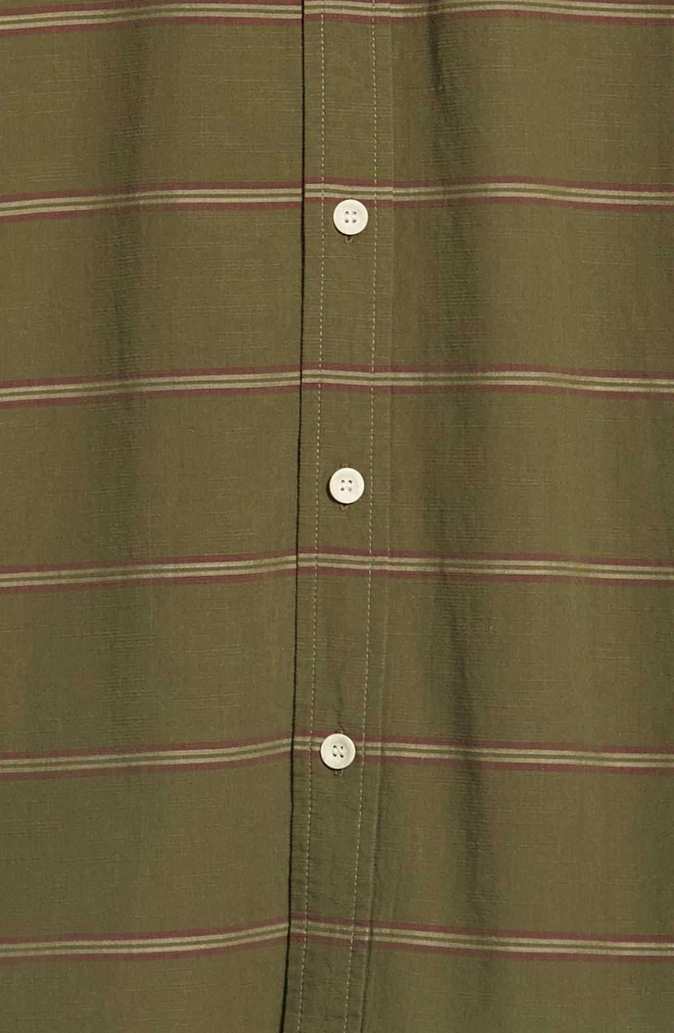 Last Dawn Regular Fit Stripe Sport Shirt,                             Alternate thumbnail 6, color,                             300