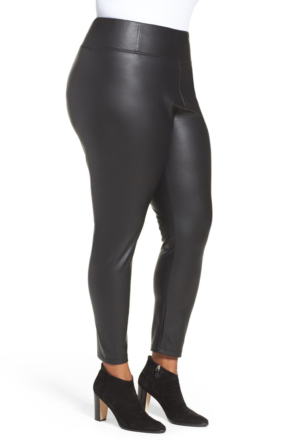 Sadi Coated Skinny Pants,                             Alternate thumbnail 3, color,