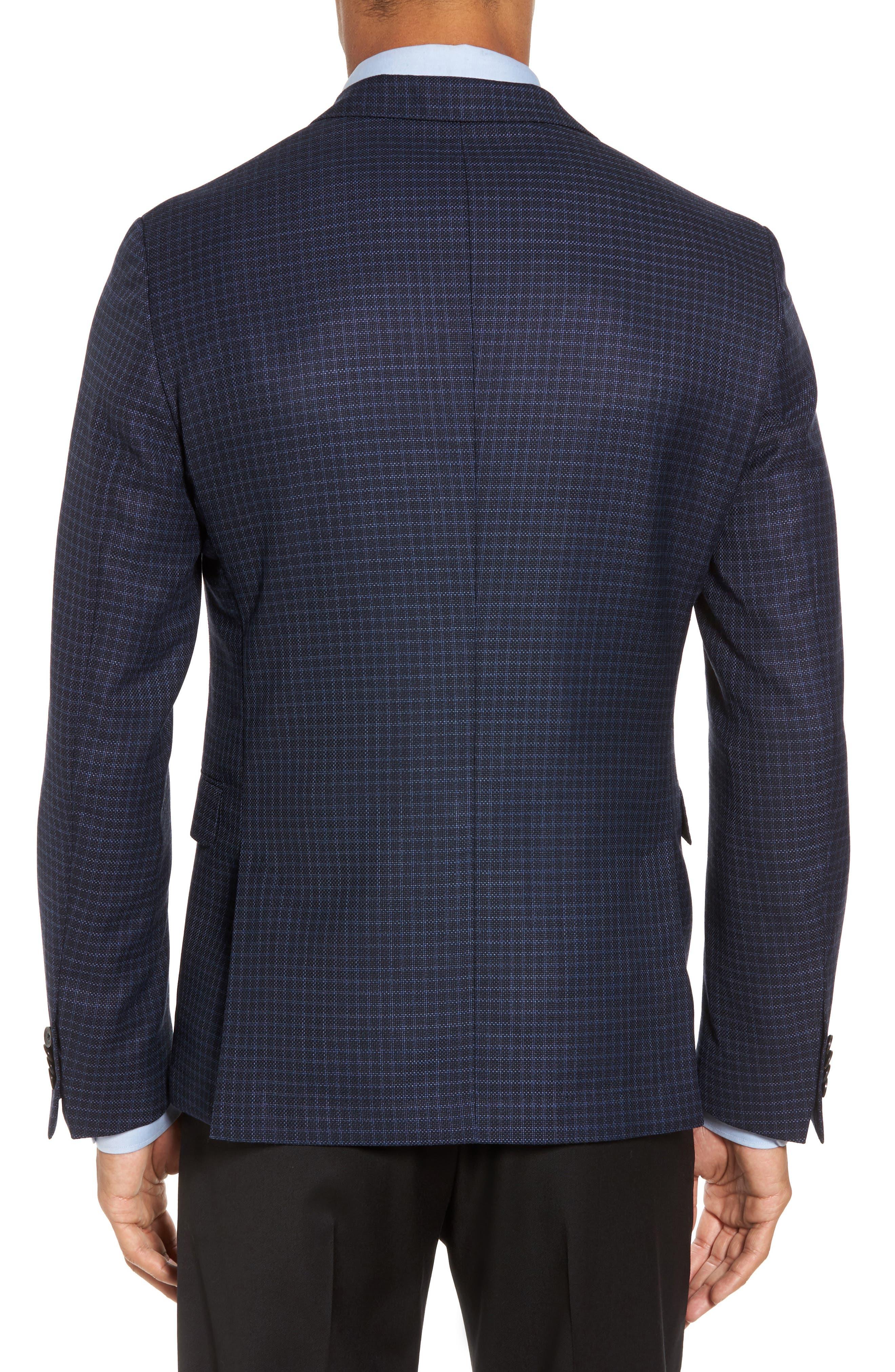 Nobis Trim Fit Check Wool Sport Coat,                             Alternate thumbnail 2, color,