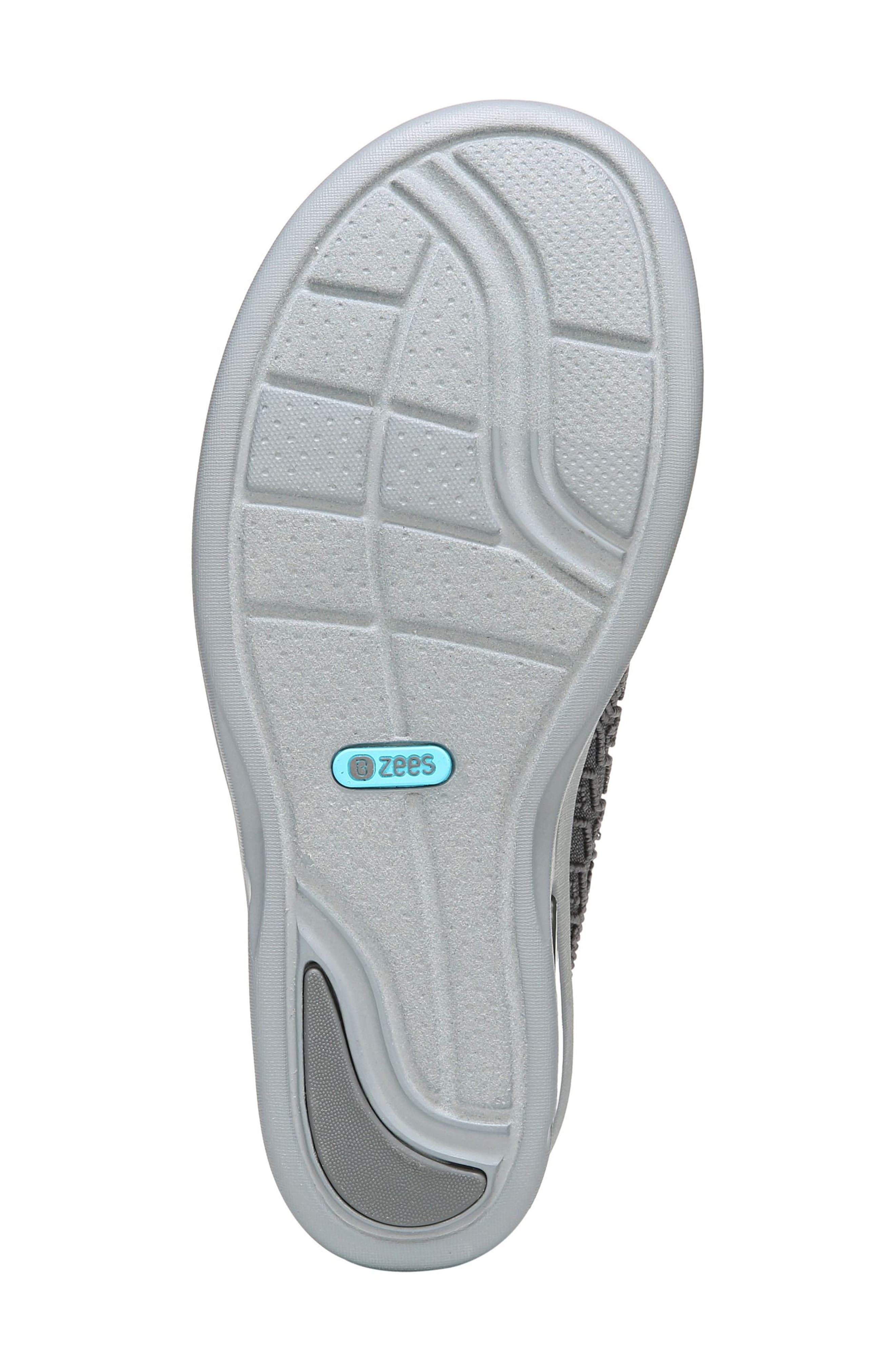 Vista Slide Sandal,                             Alternate thumbnail 6, color,                             PEWTER FABRIC