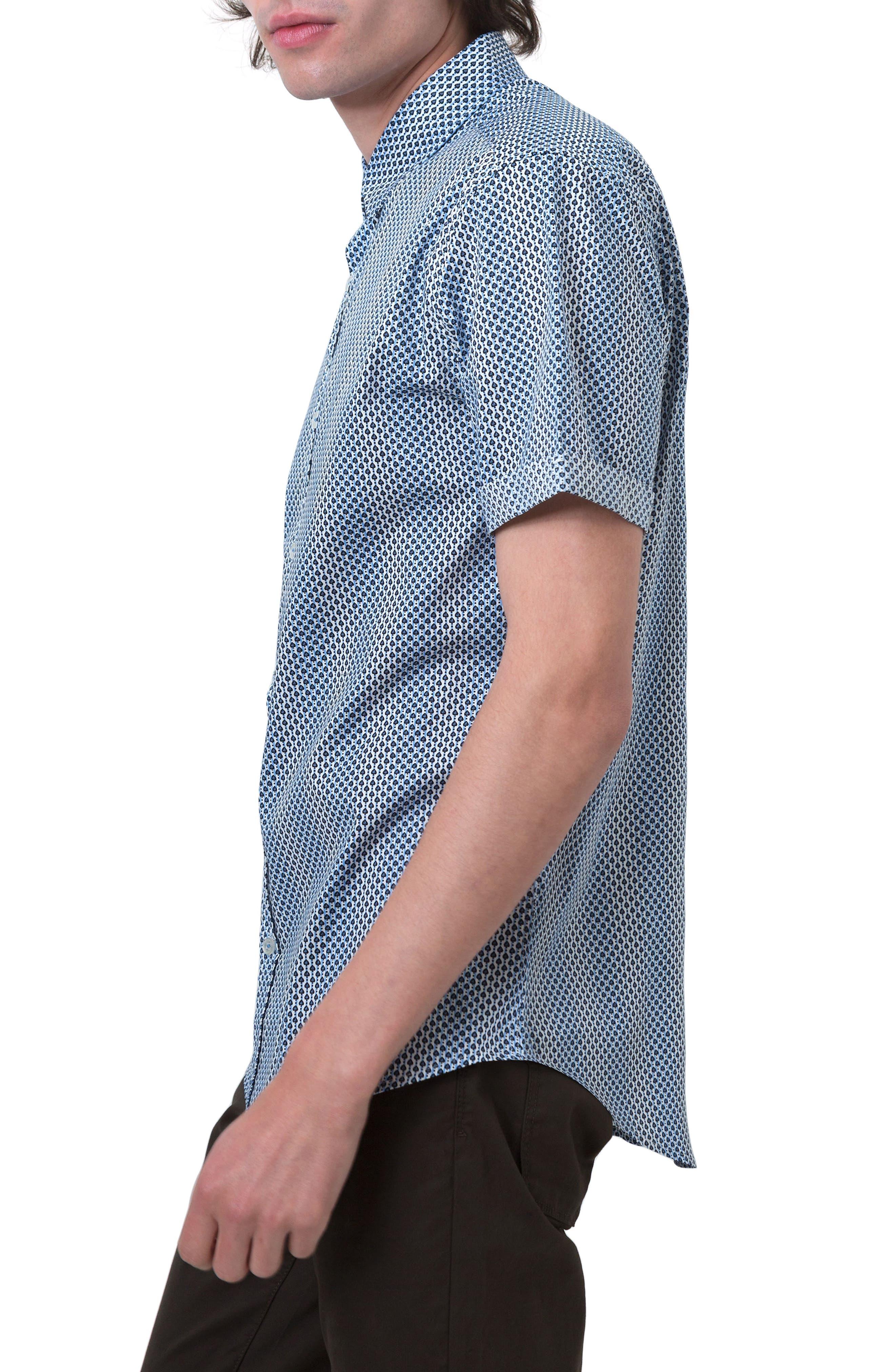 Goodnight Sun Woven Shirt,                             Alternate thumbnail 3, color,                             400
