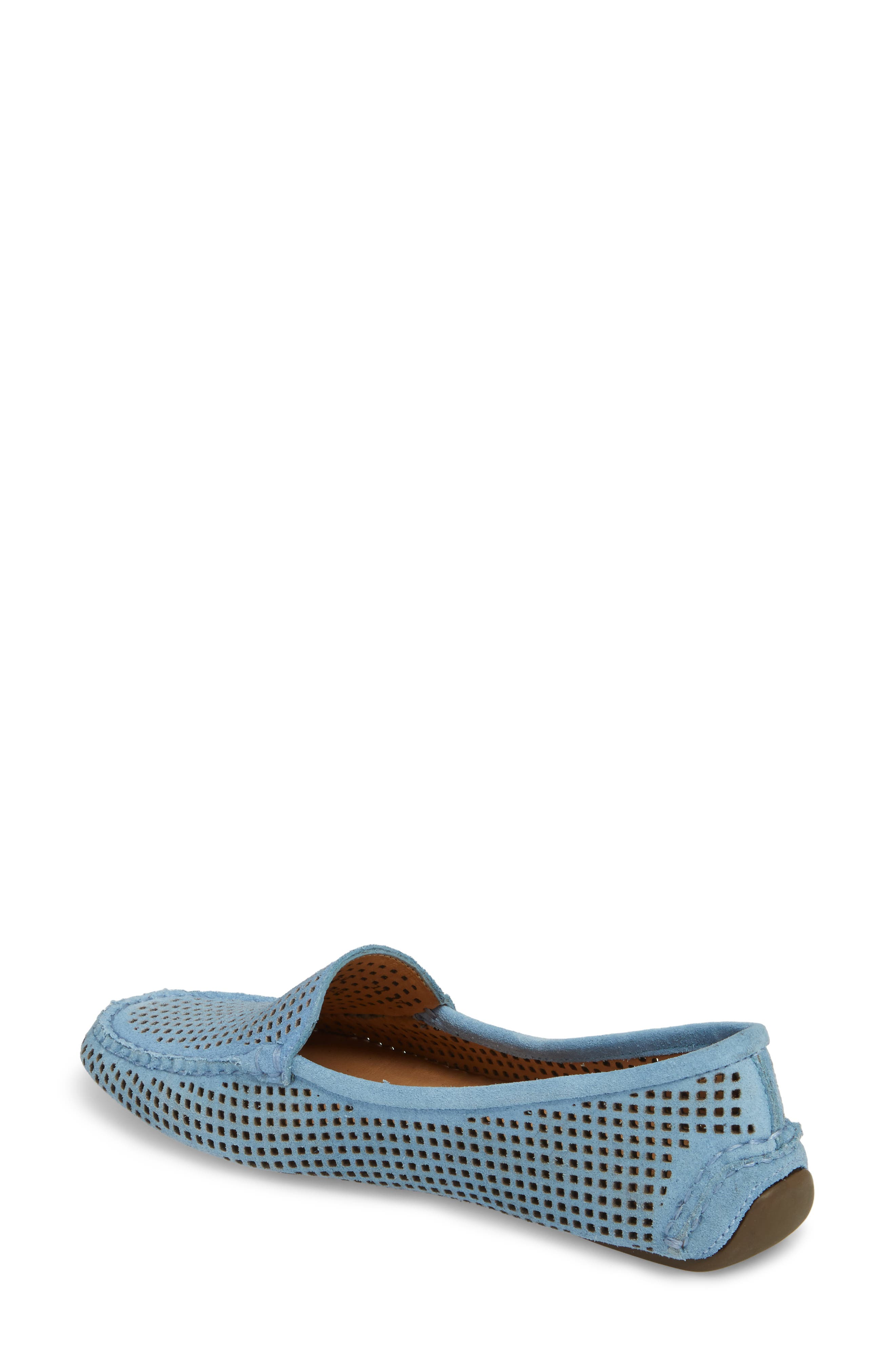 'Barrie' Flat,                             Alternate thumbnail 2, color,                             FRENCH BLUE SUEDE