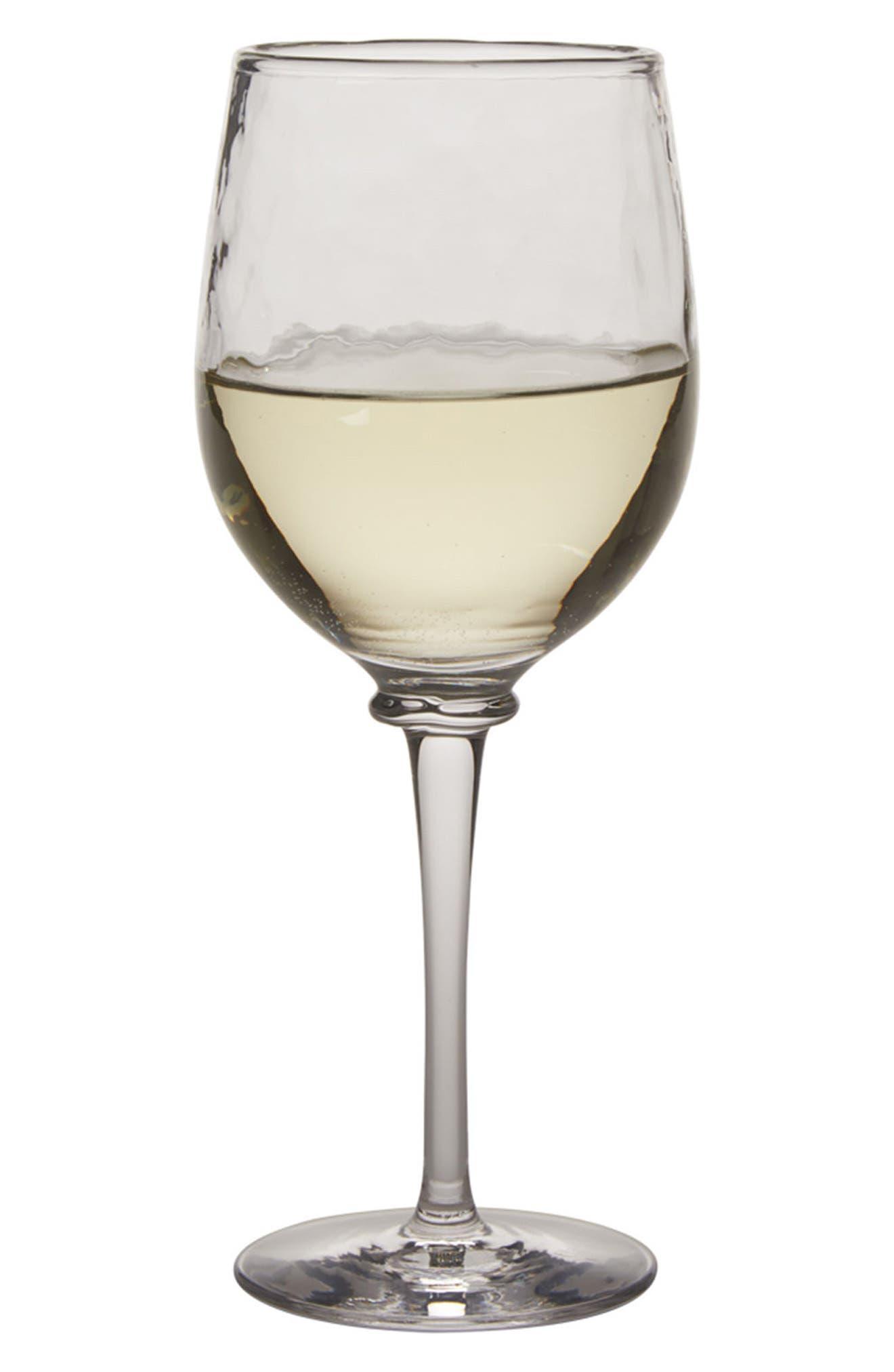 Carine White Wine Goblet,                             Alternate thumbnail 2, color,                             CLEAR
