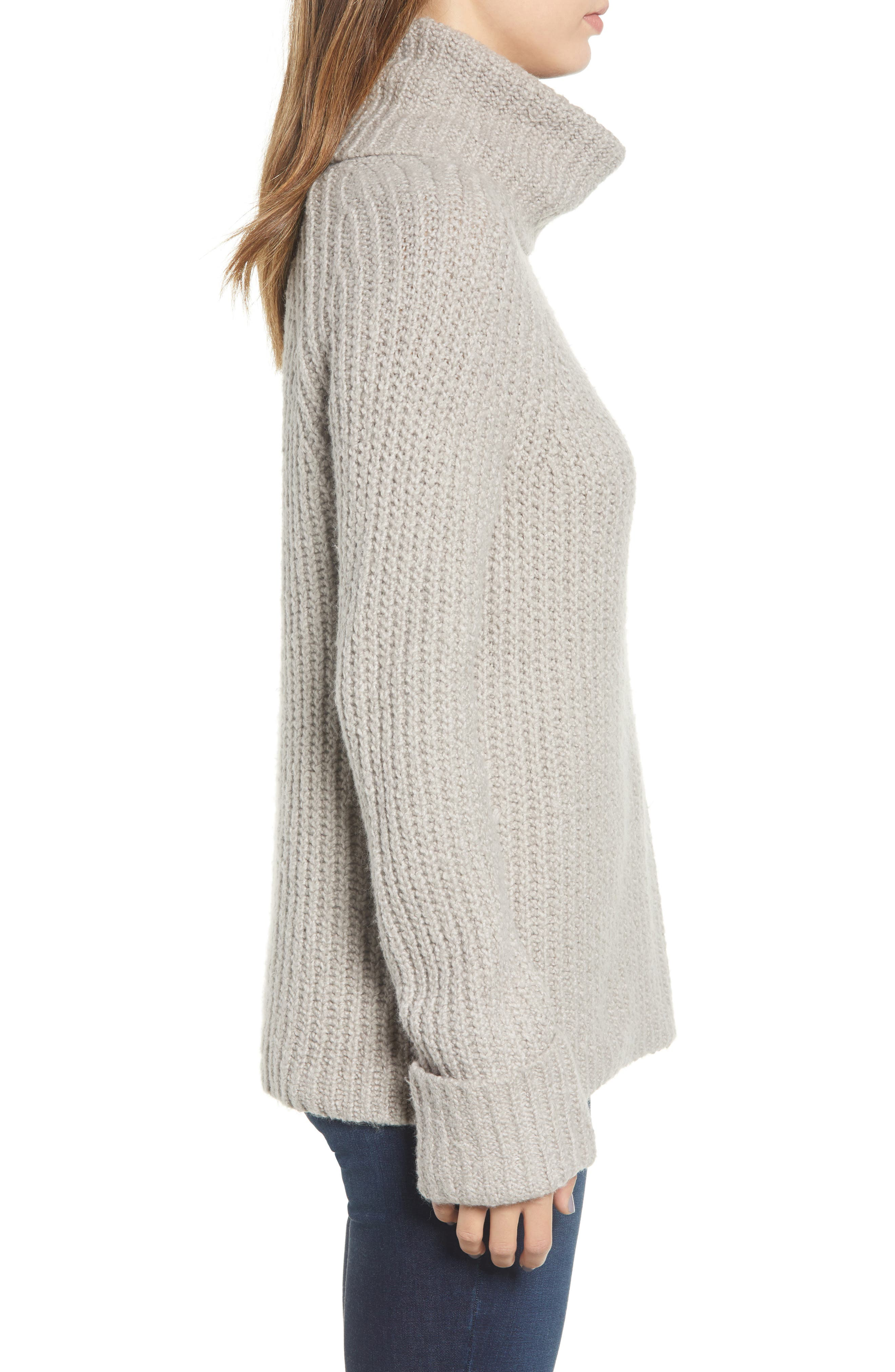 Cozy Turtleneck Sweater,                             Alternate thumbnail 3, color,                             050