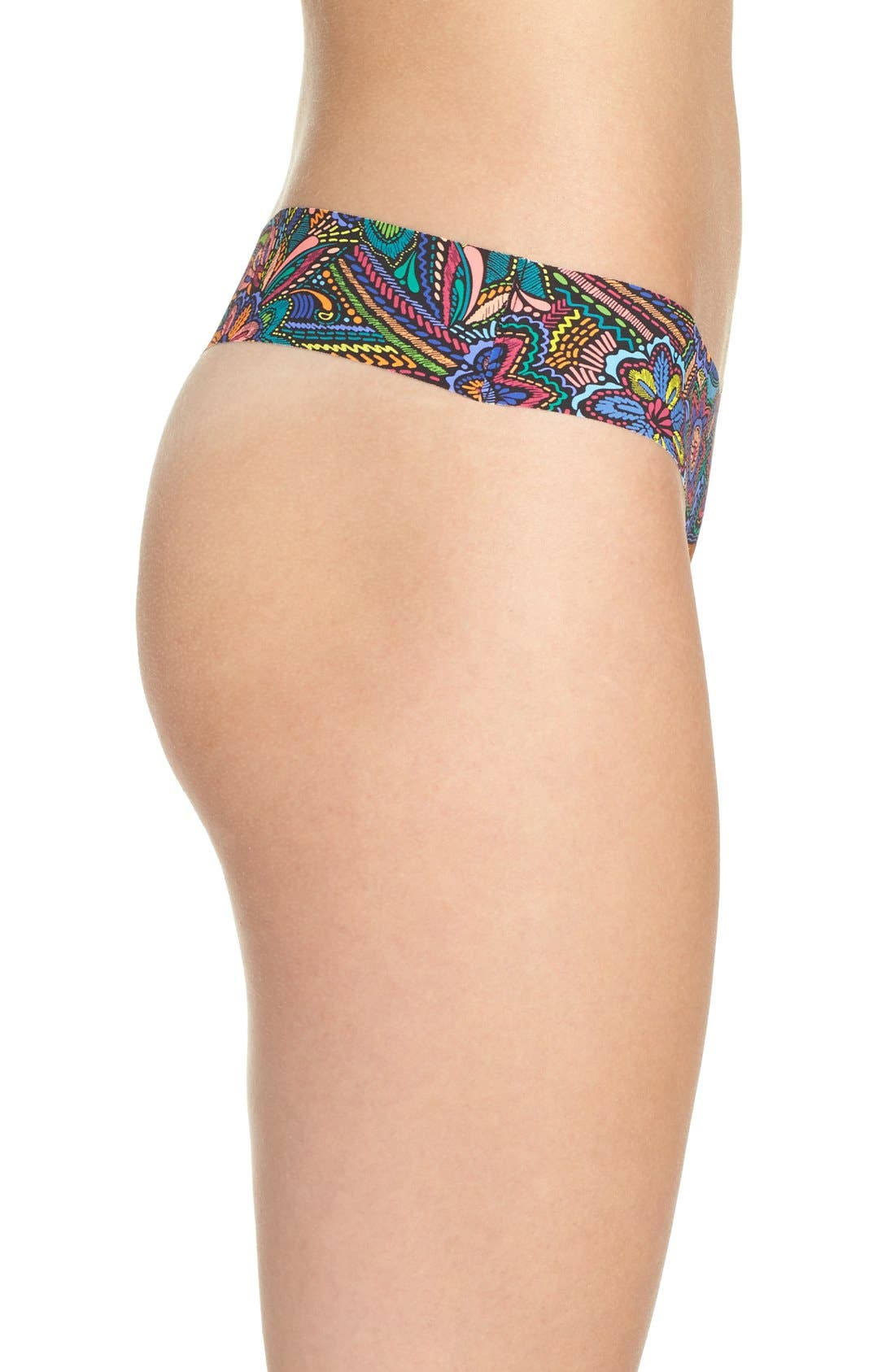 Print Microfiber Thong,                             Alternate thumbnail 166, color,