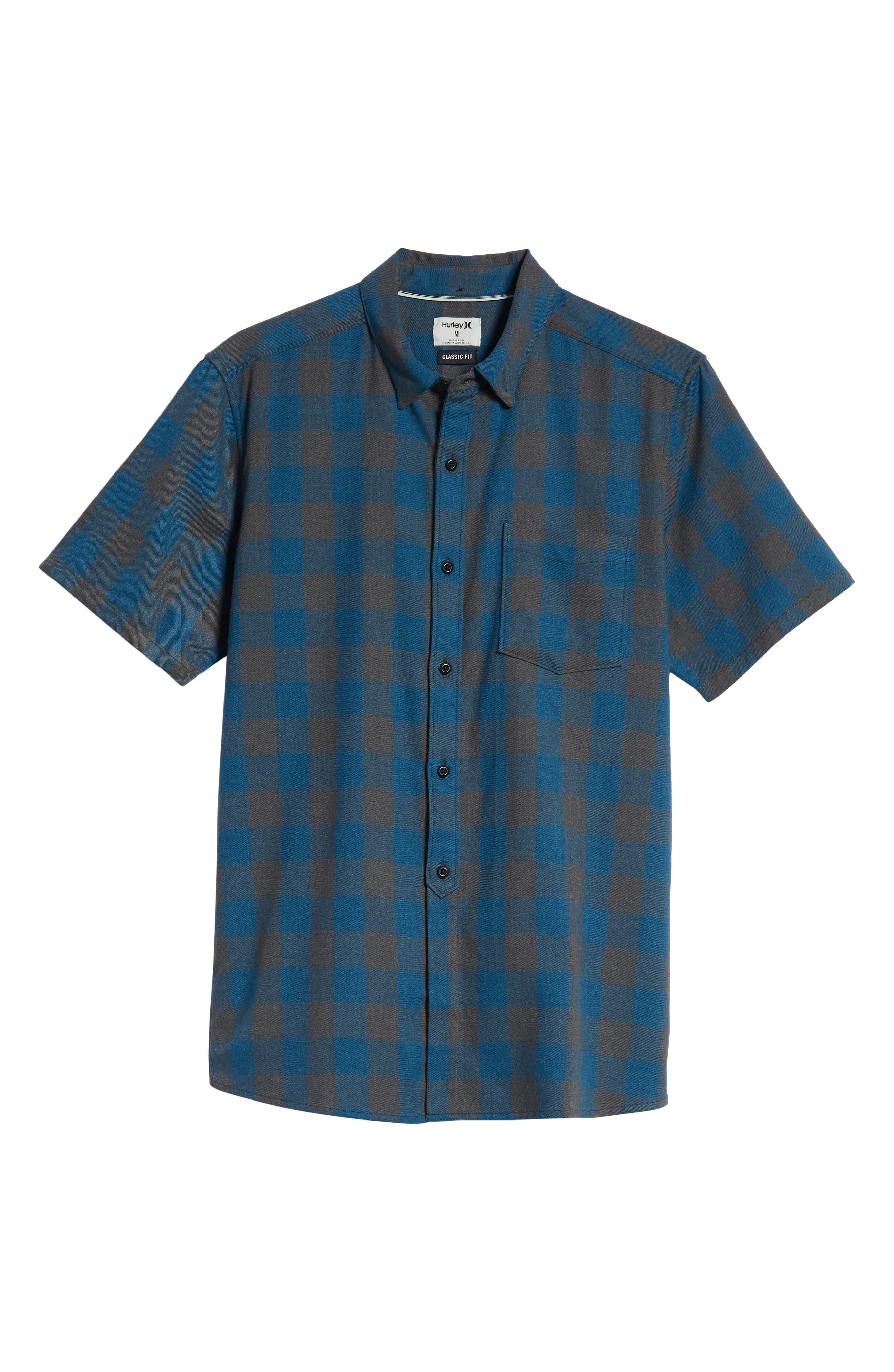 Bison Check Twill Woven Shirt,                             Alternate thumbnail 5, color,                             BLUE FORCE HEATHER