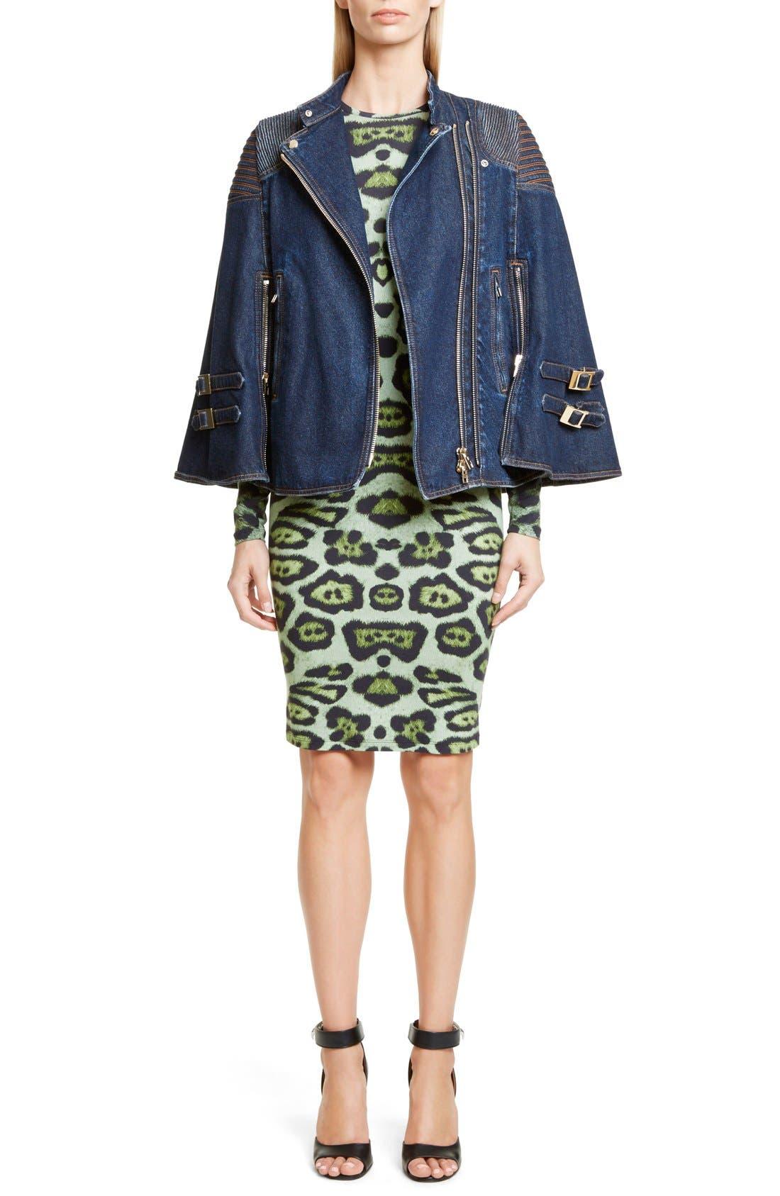Denim Cape Jacket, Main, color, 401