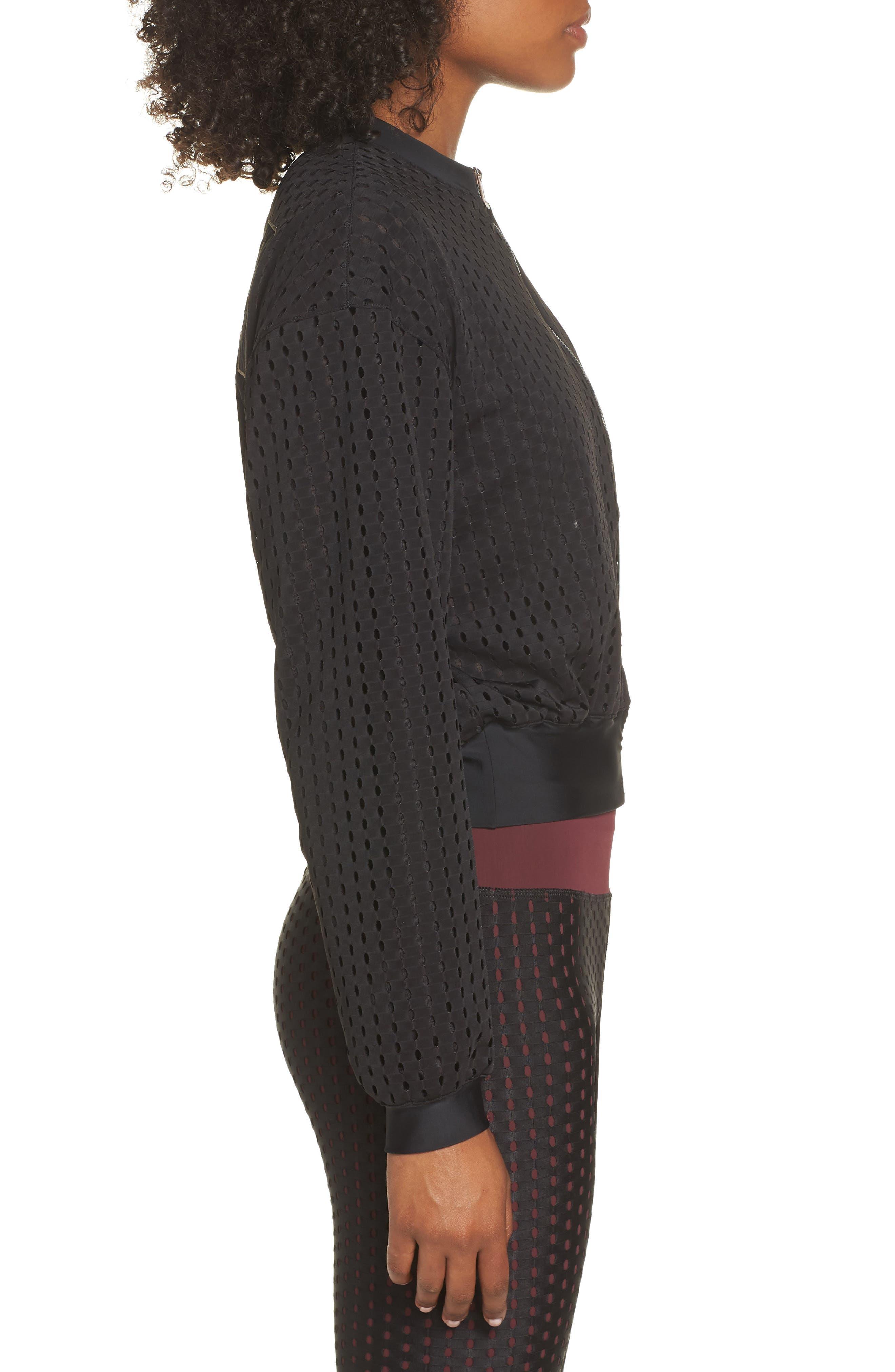 Luxe Jacket,                             Alternate thumbnail 3, color,                             PUMA BLACK