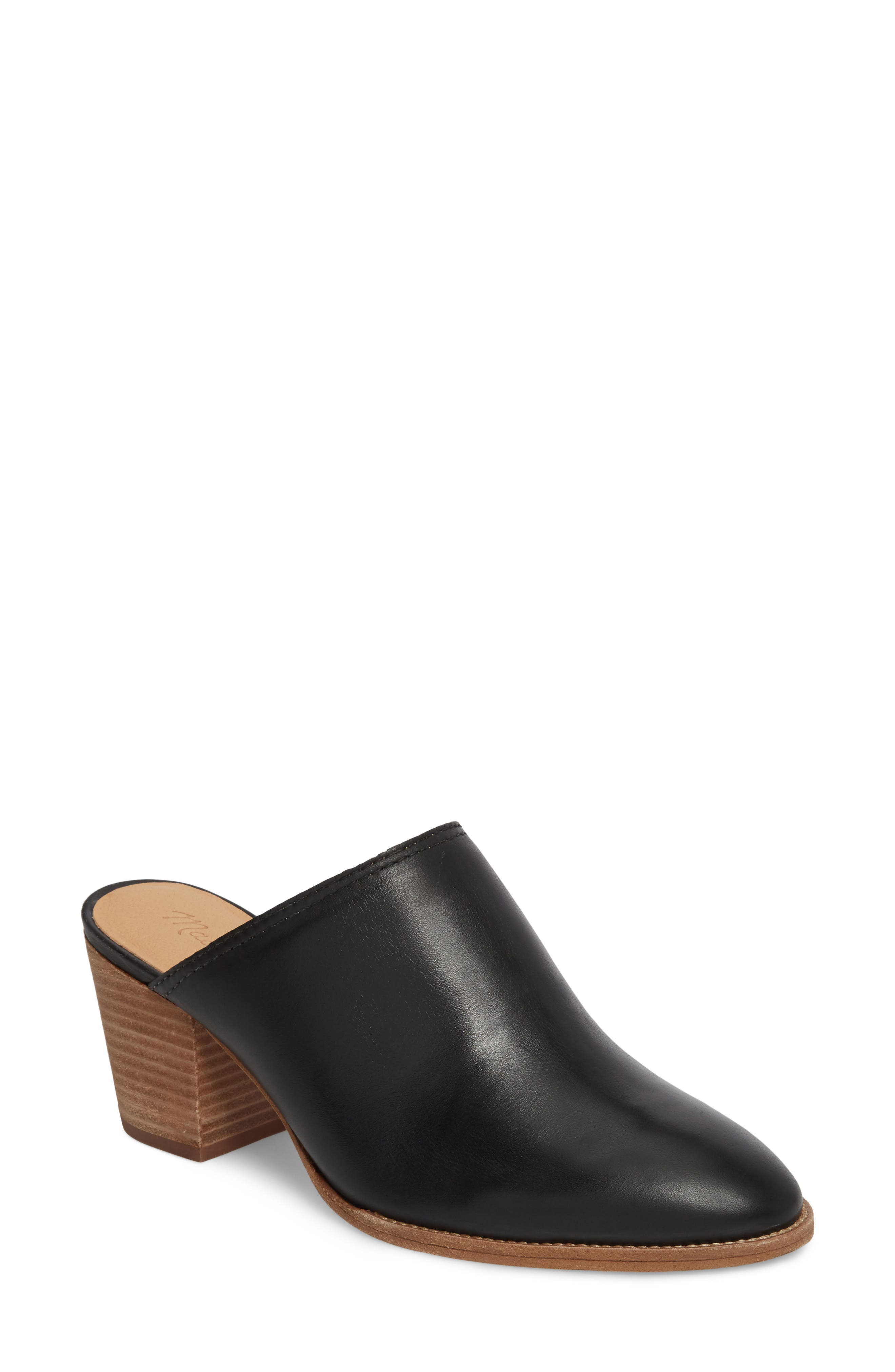 The Harper Mule, Main, color, BLACK LEATHER