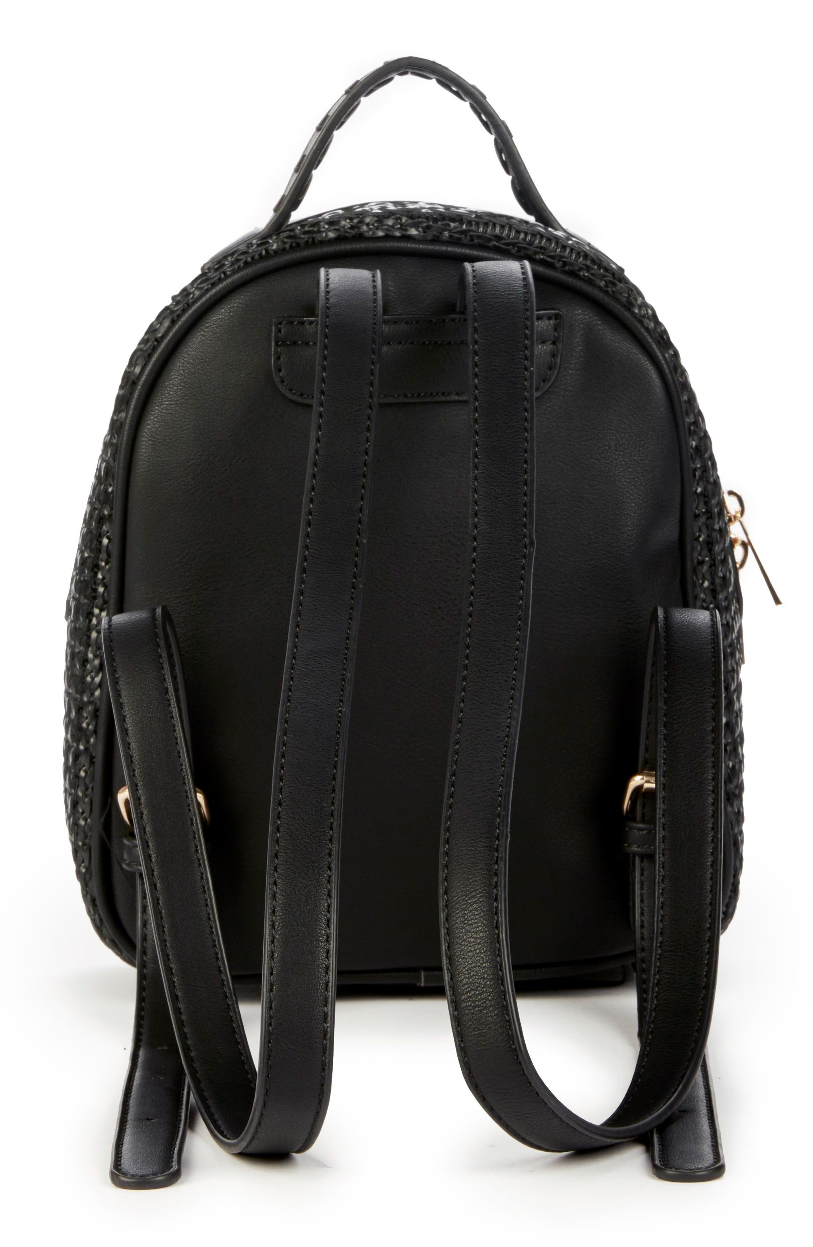 Nikole Faux Leather Backpack,                             Alternate thumbnail 3, color,                             001