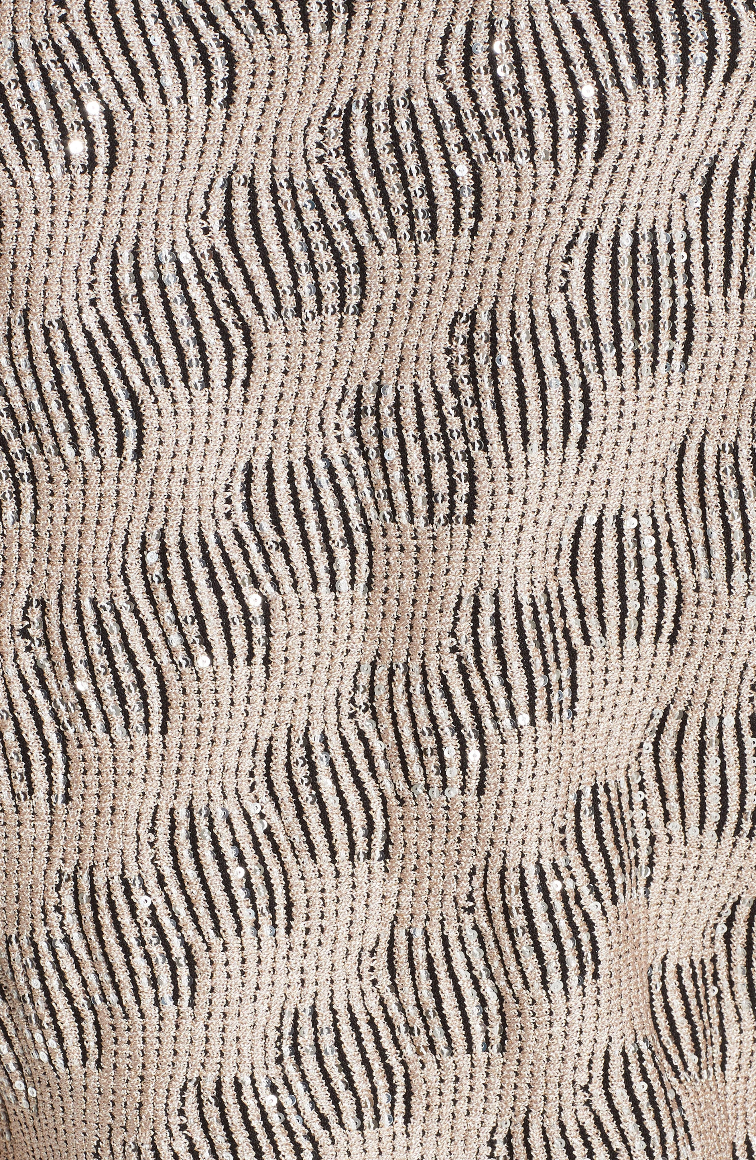 Inlaid Sequin Trellis Fit & Flare Topper,                             Alternate thumbnail 7, color,                             CAVIAR MULTI