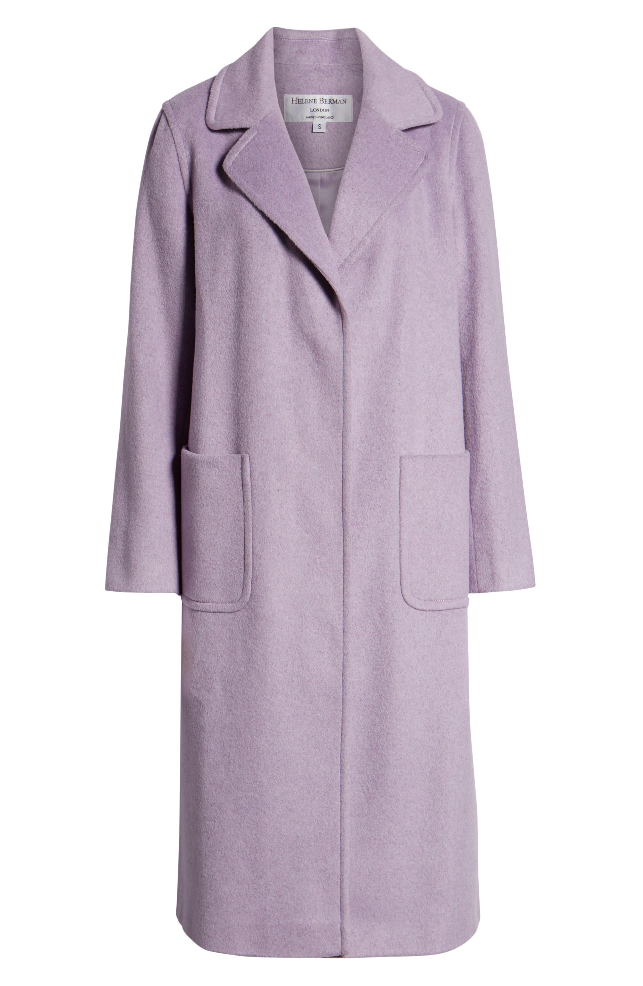 Ruth Knee Length Coat,                             Alternate thumbnail 6, color,                             500