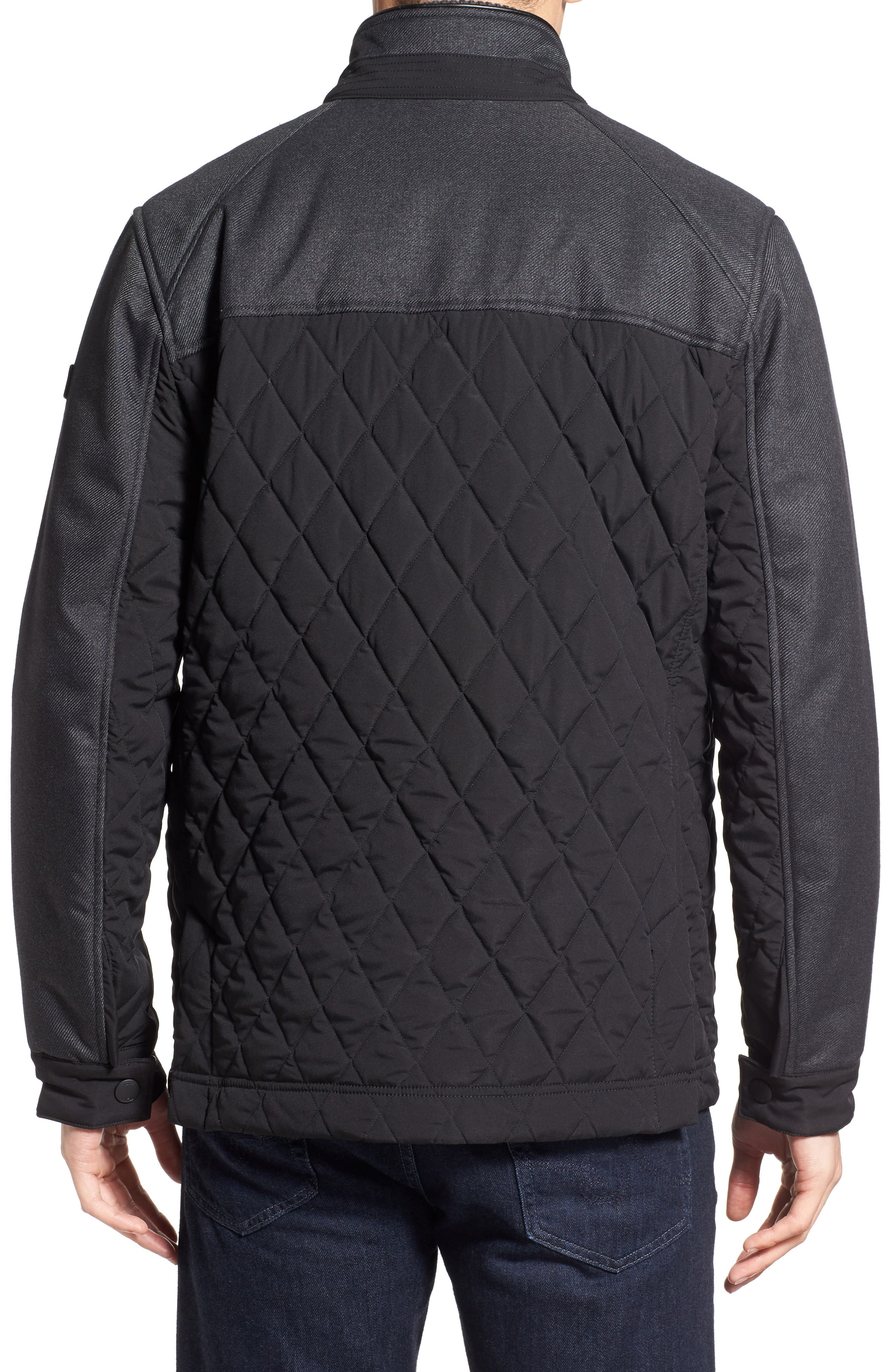 'Heritage' Quilted Jacket,                             Alternate thumbnail 3, color,                             001