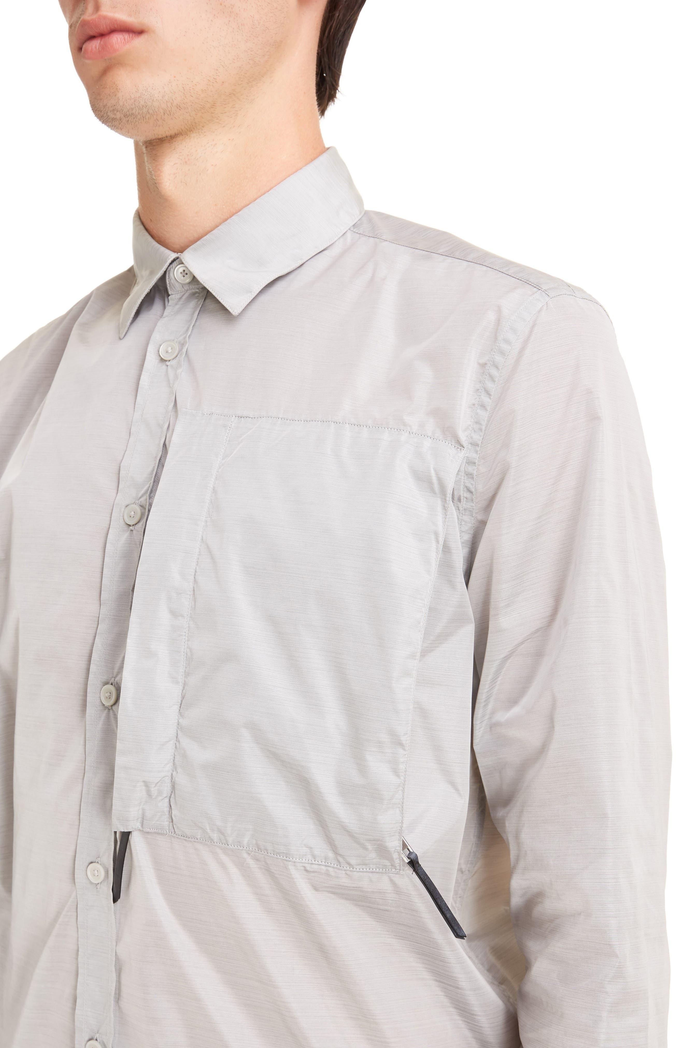 Nylon Woven Shirt,                             Alternate thumbnail 4, color,                             055
