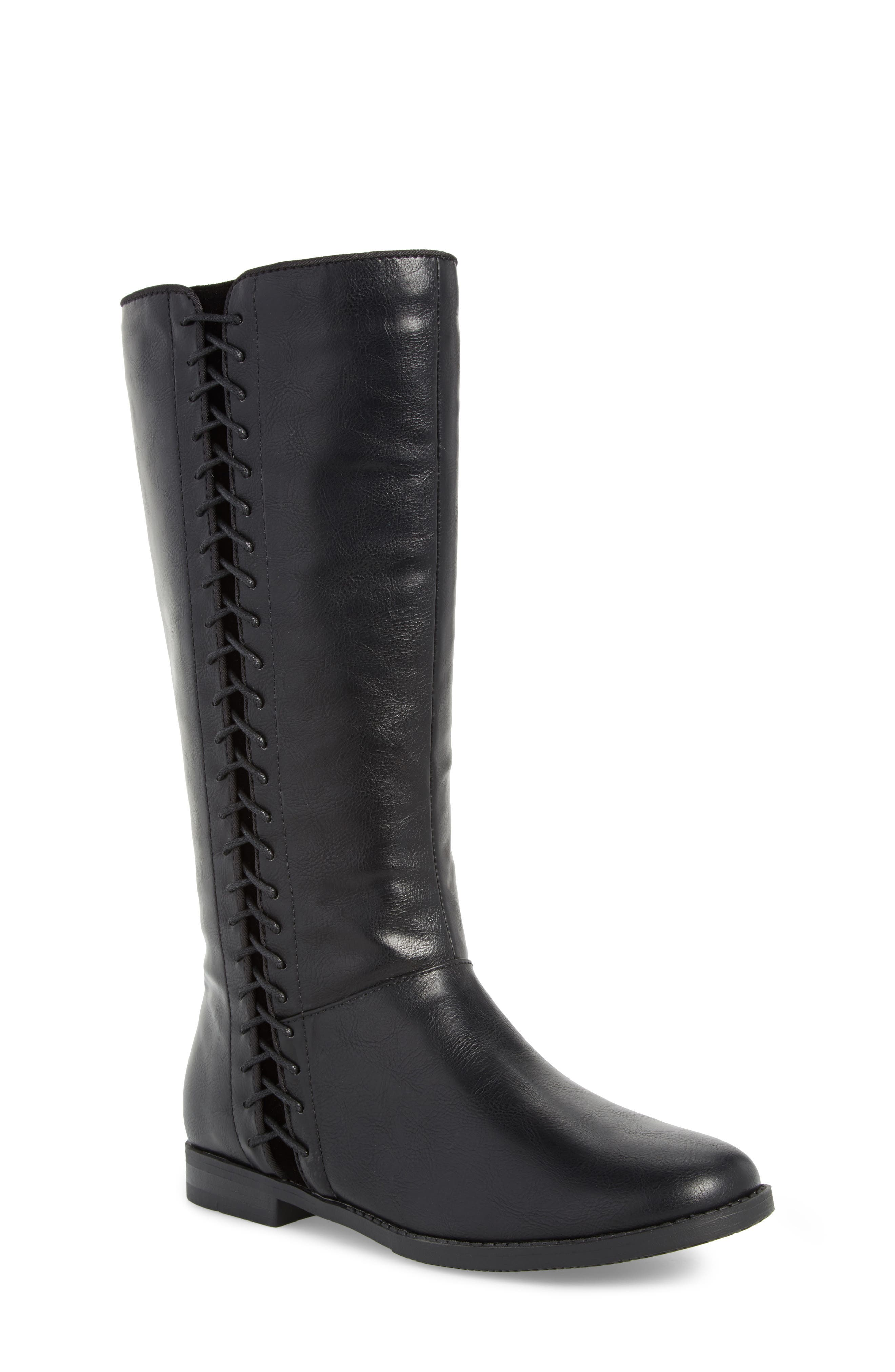 Kennedy Laced Tall Boot,                         Main,                         color,