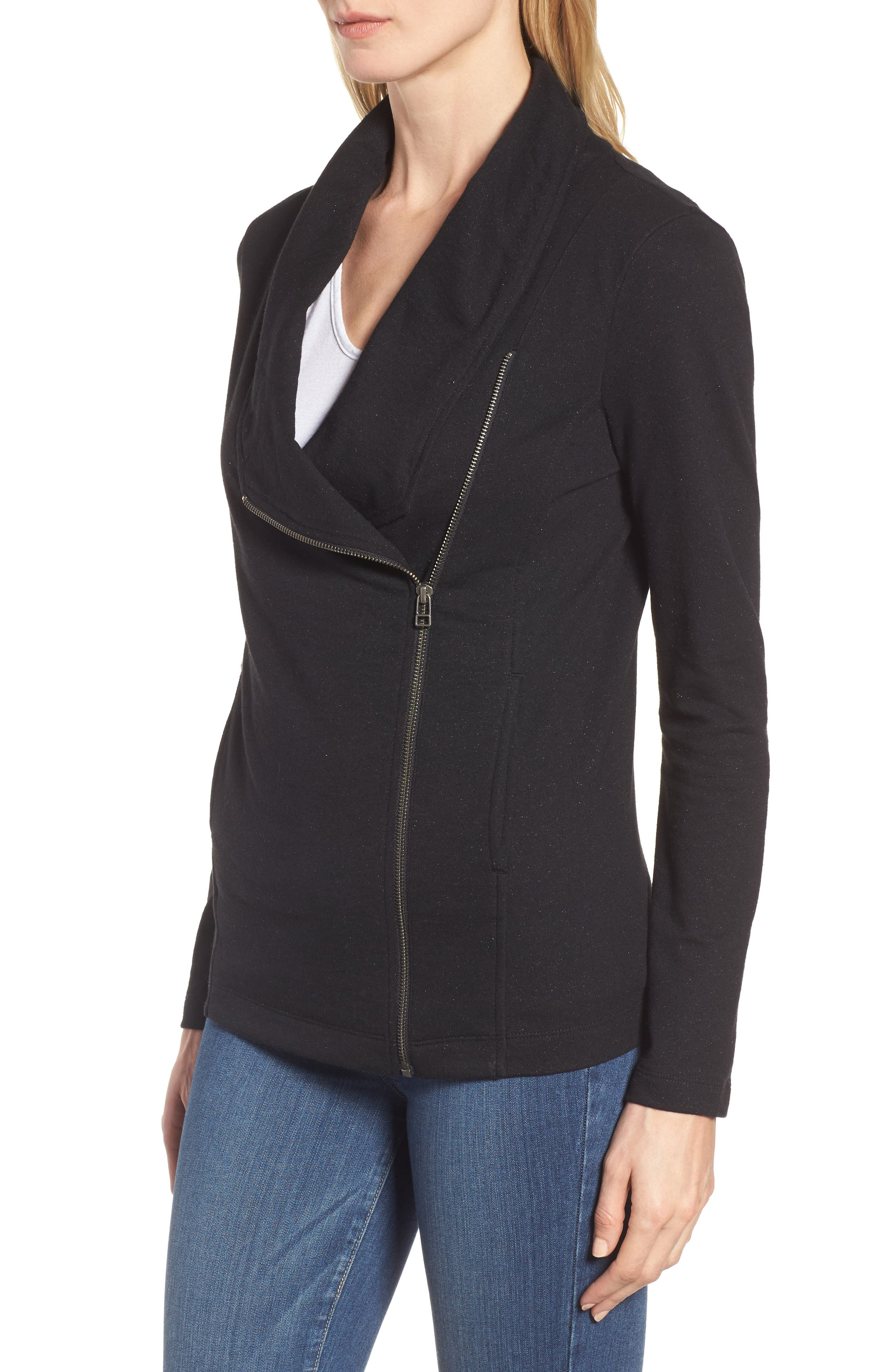 Stella Knit Jacket,                             Alternate thumbnail 3, color,                             001