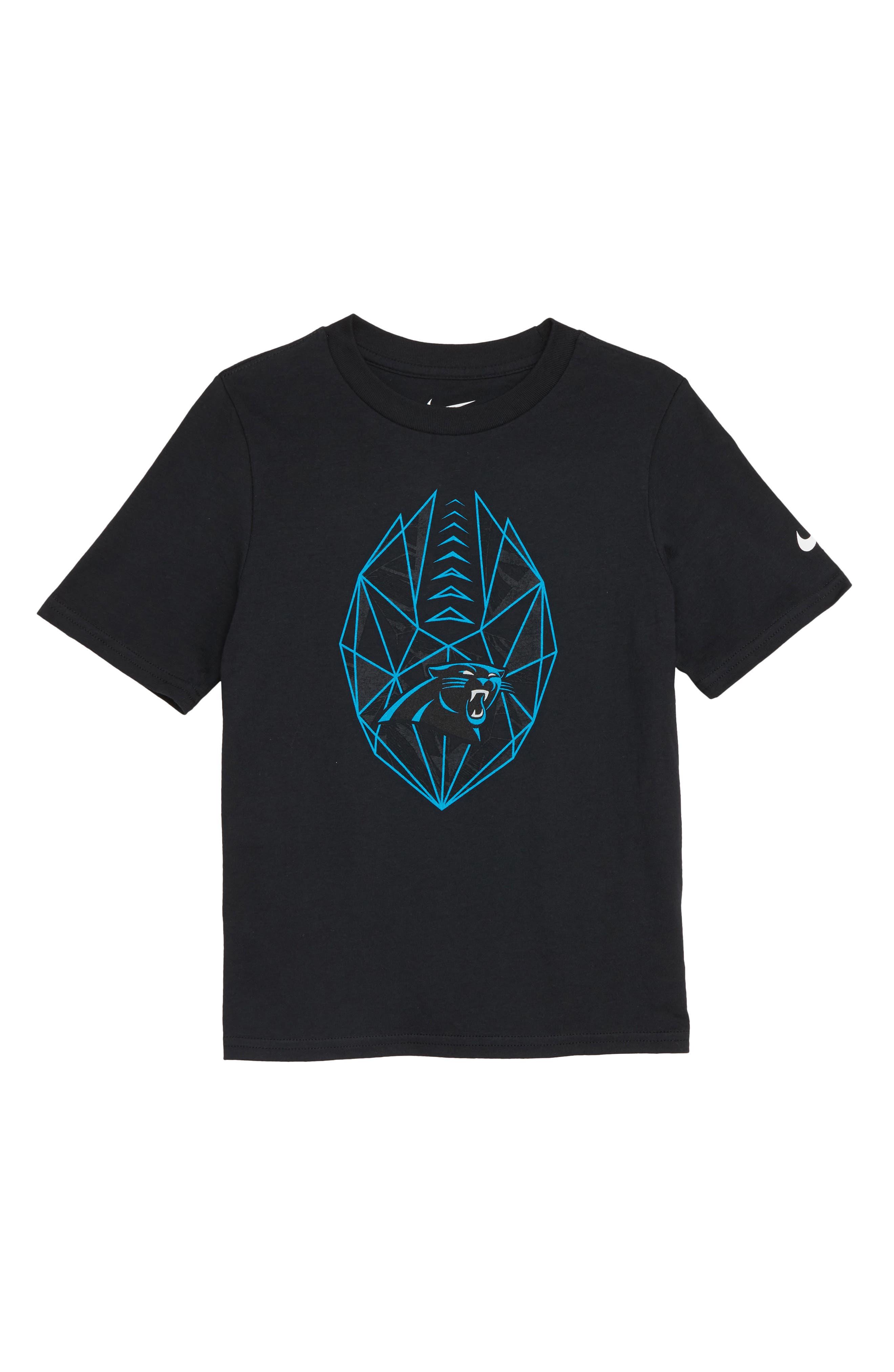 NFL Panthers T-Shirt,                             Main thumbnail 1, color,                             BLACK