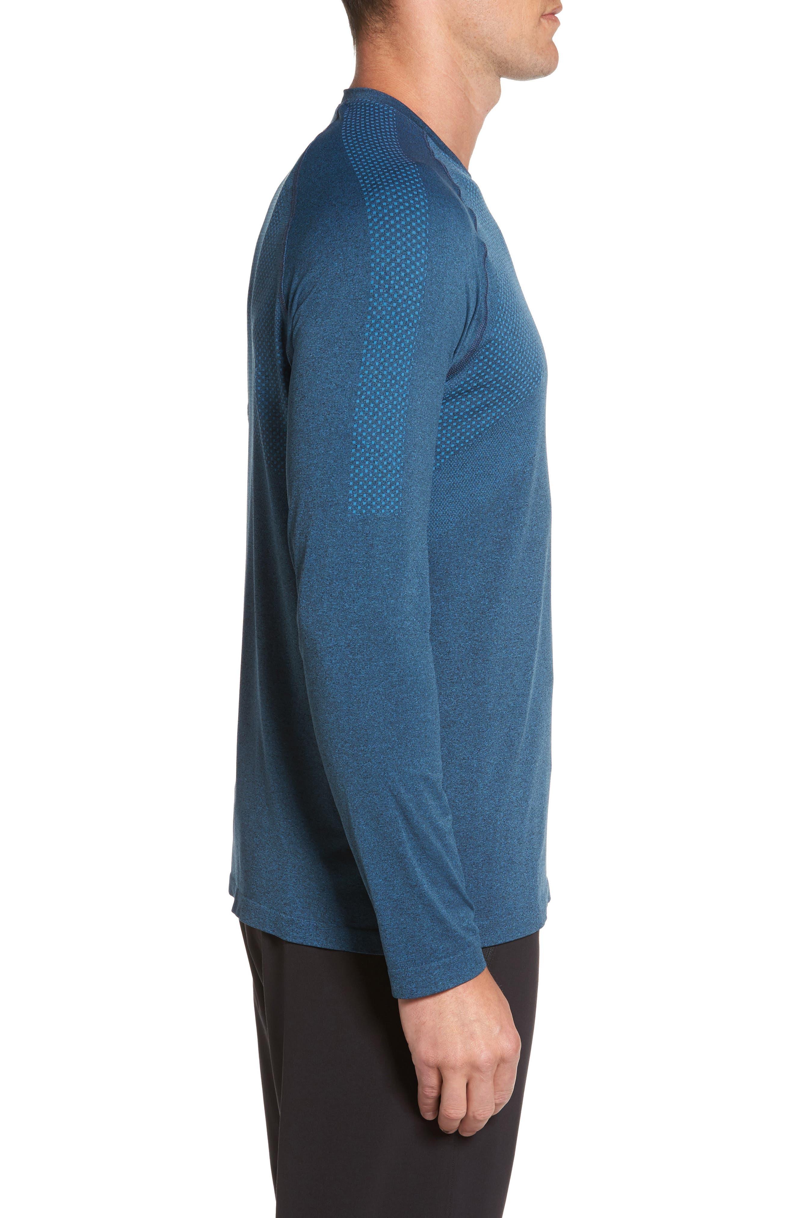 Zeolite Long Sleeve Performance T-Shirt,                             Alternate thumbnail 8, color,