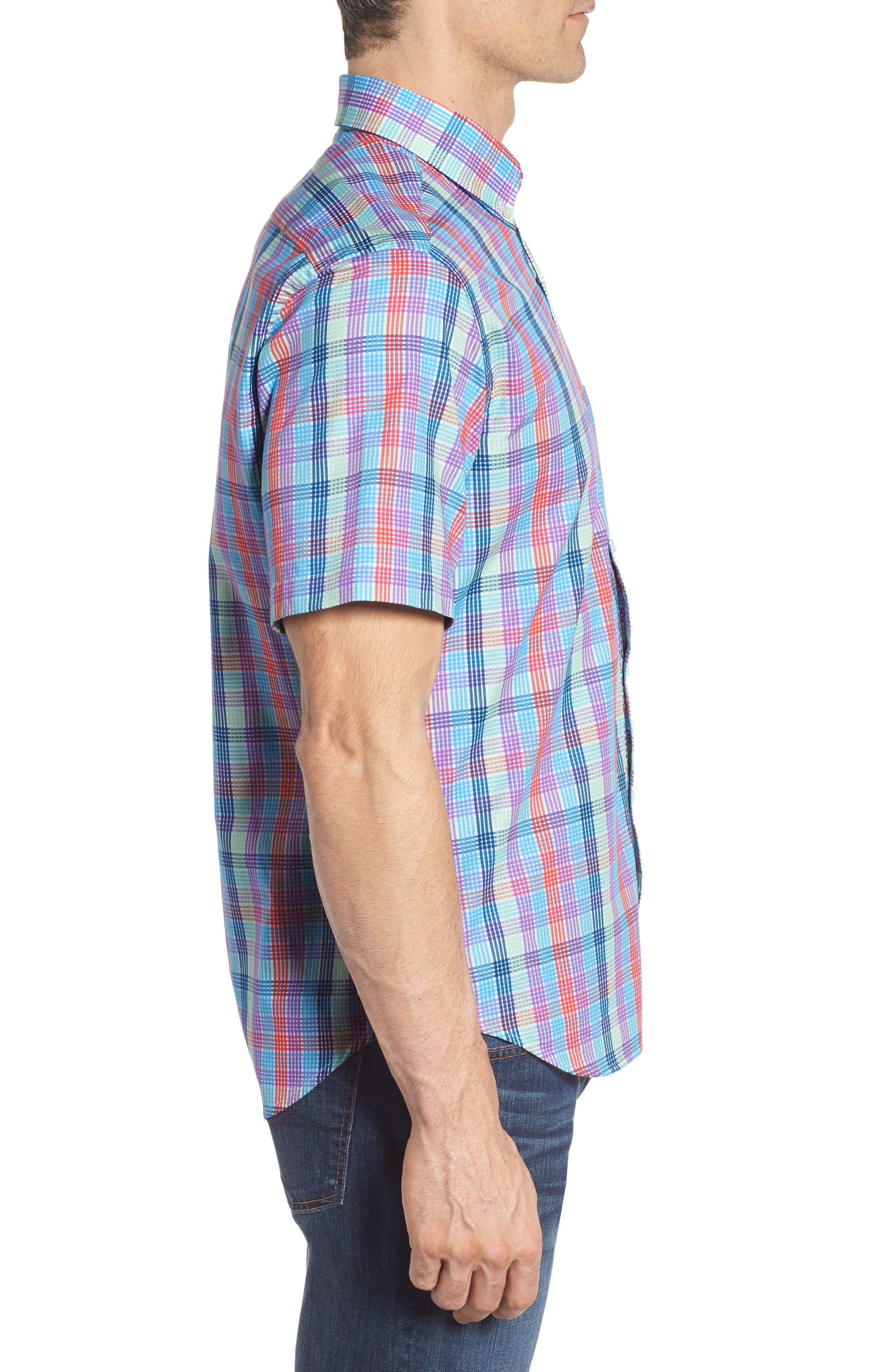 Slidell Regular Fit Check Sport Shirt,                             Alternate thumbnail 3, color,
