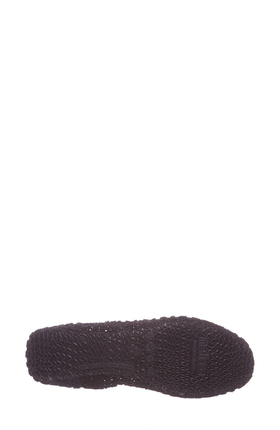 'Campana Papel VII' Jelly Flat,                             Alternate thumbnail 4, color,                             BLACK GLITTER
