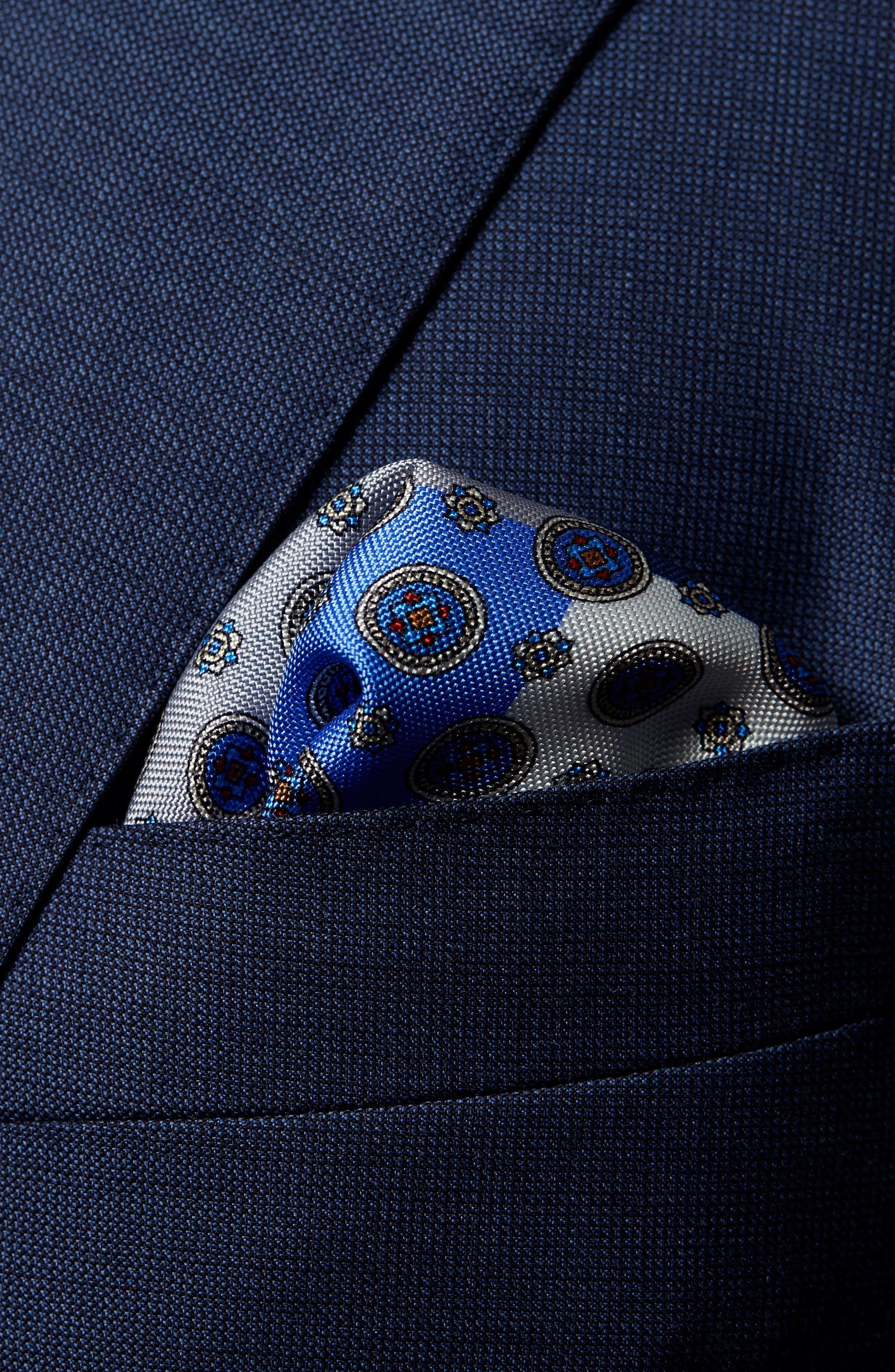 Four-in-One Silk Pocket Square,                             Alternate thumbnail 3, color,                             BLUE