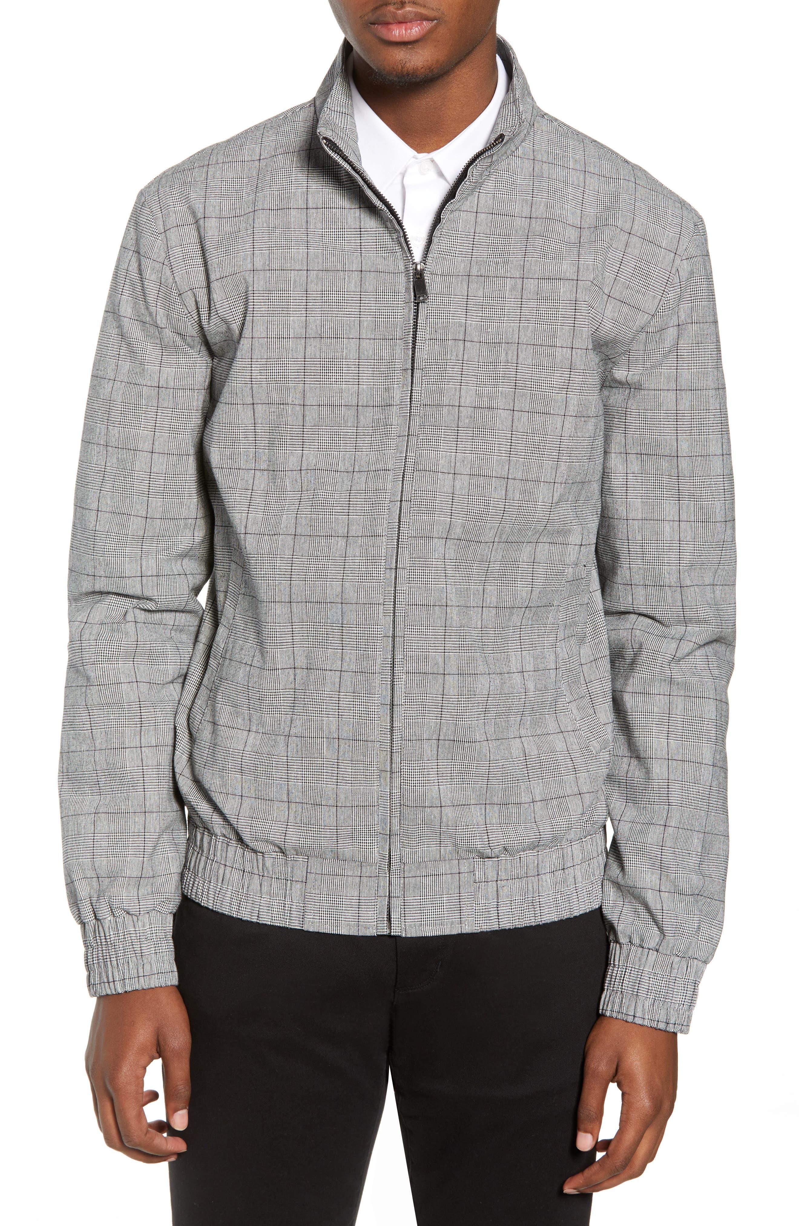 Check Harrington Jacket,                         Main,                         color, 020