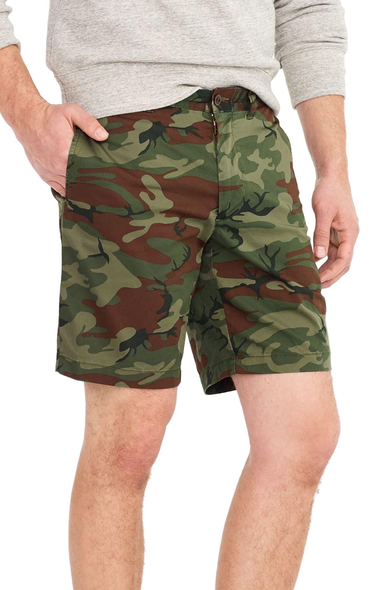 Stretch Camo Shorts,                             Alternate thumbnail 3, color,                             300