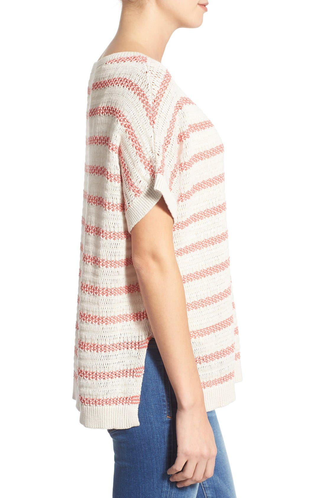 Crewneck Poncho Sweater,                             Alternate thumbnail 4, color,                             260