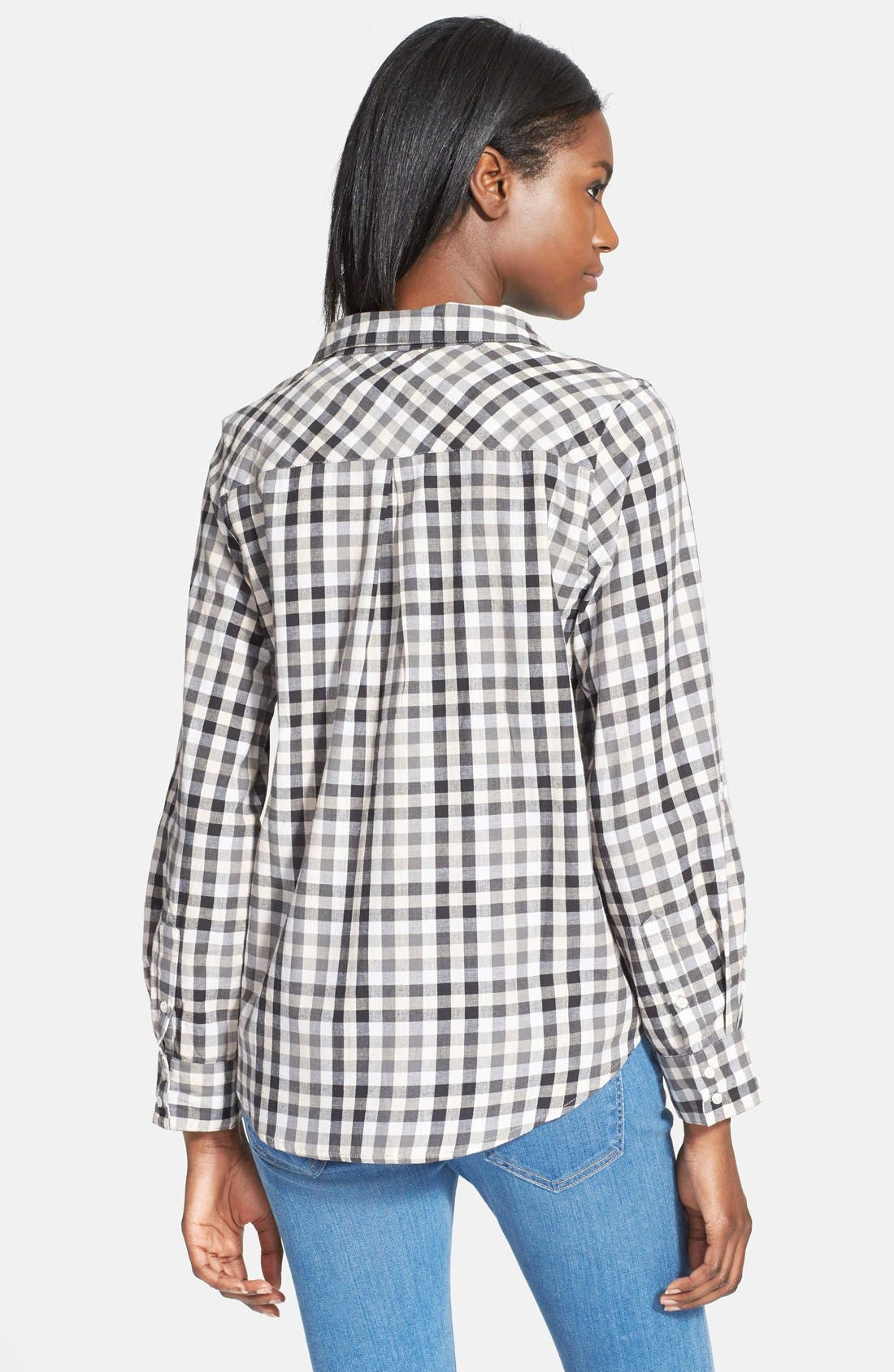 'Cartel' Check Cotton Shirt,                             Alternate thumbnail 3, color,