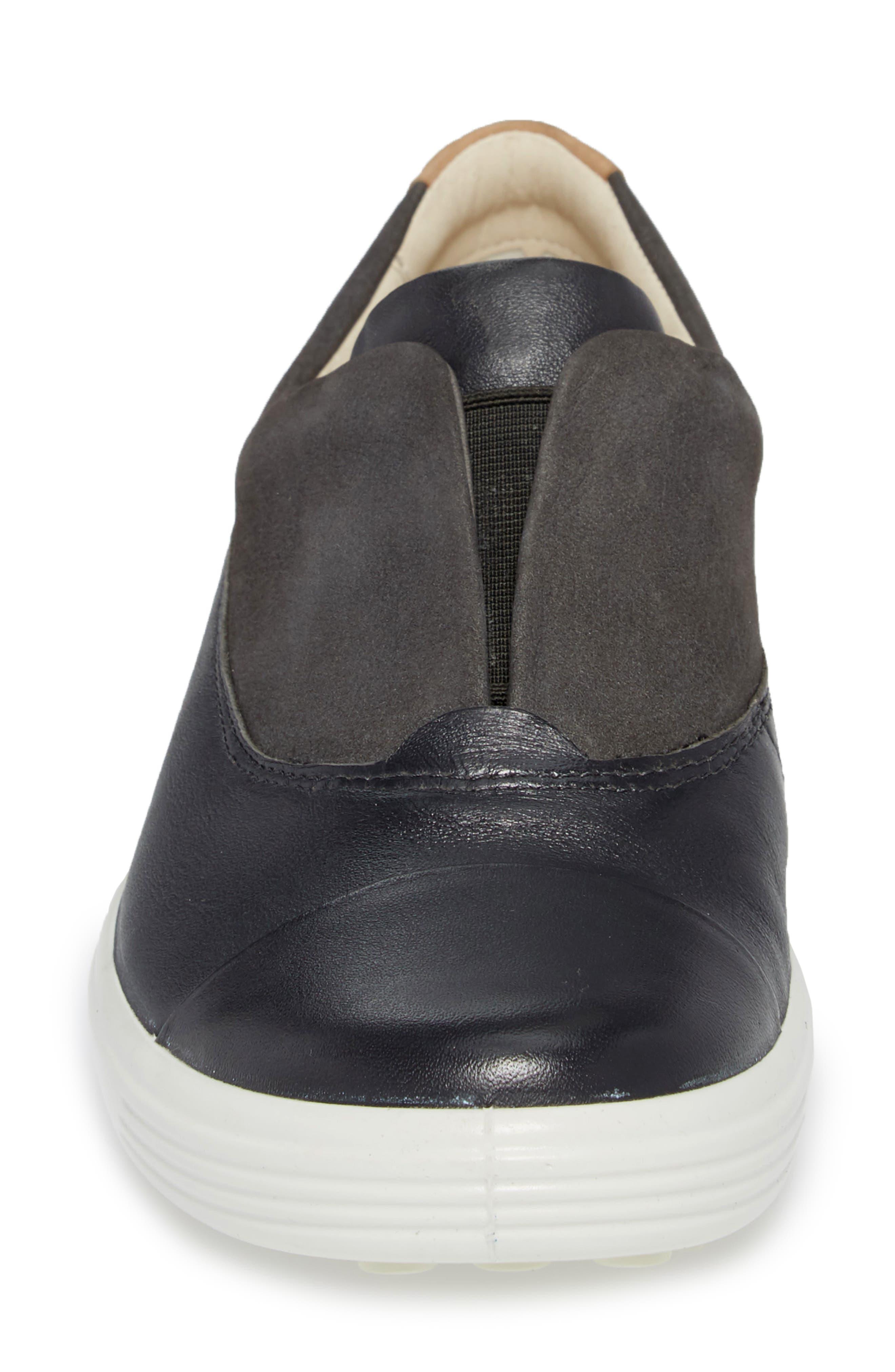 Soft 7 II Slip-On Sneaker,                             Alternate thumbnail 4, color,                             DARK SHADOW LEATHER