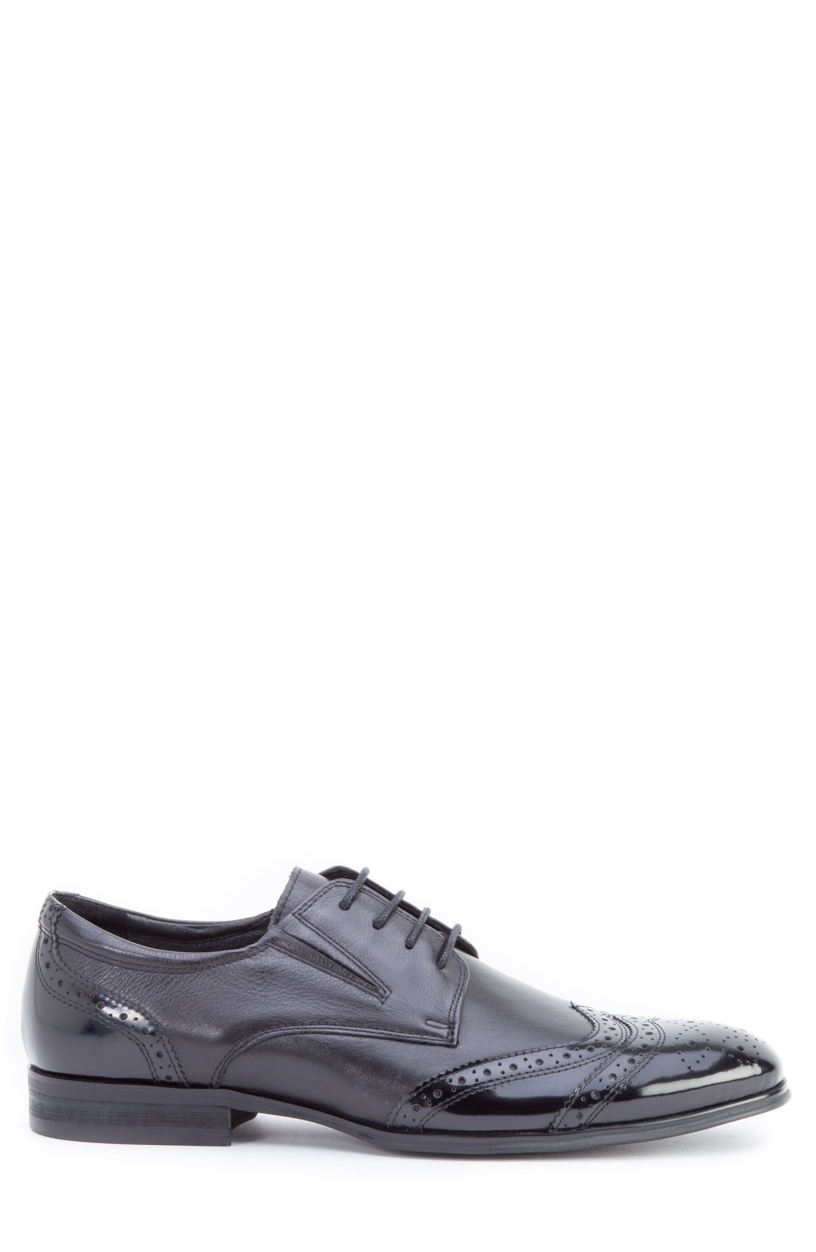 Andrews Wingtip,                             Alternate thumbnail 3, color,                             BLACK LEATHER