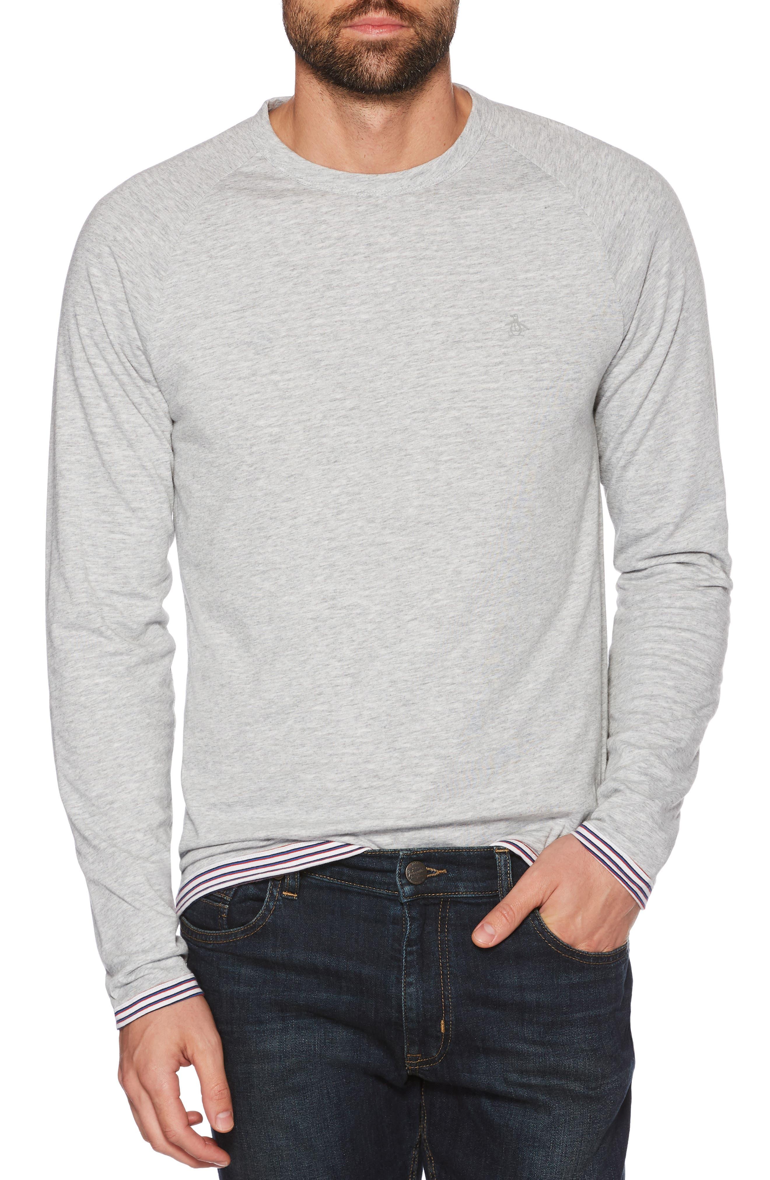 Reversible Long Sleeve Raglan T-Shirt,                             Main thumbnail 1, color,                             HIGH RISE