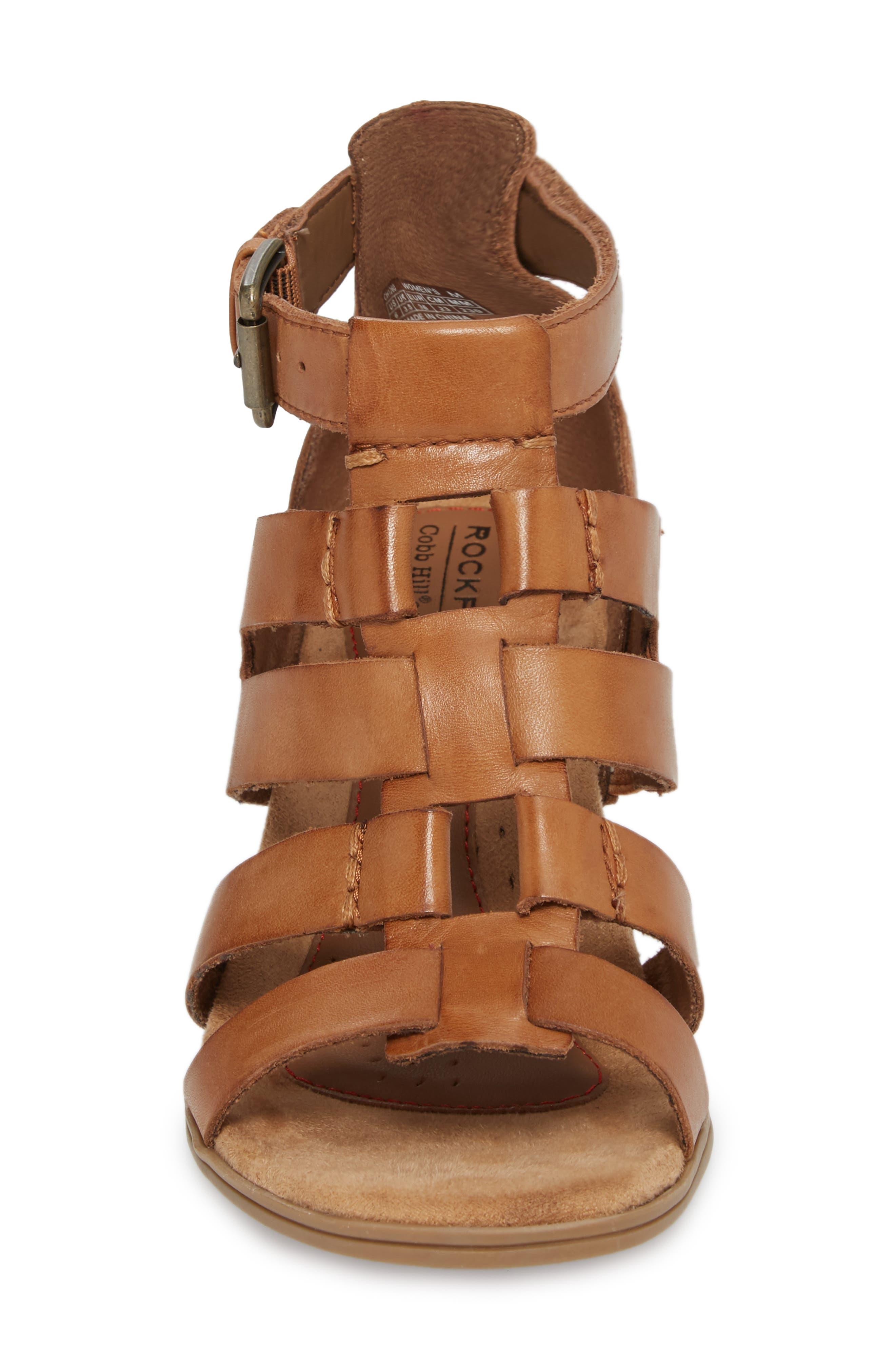 Hattie Block Heel Gladiator Sandal,                             Alternate thumbnail 4, color,                             231