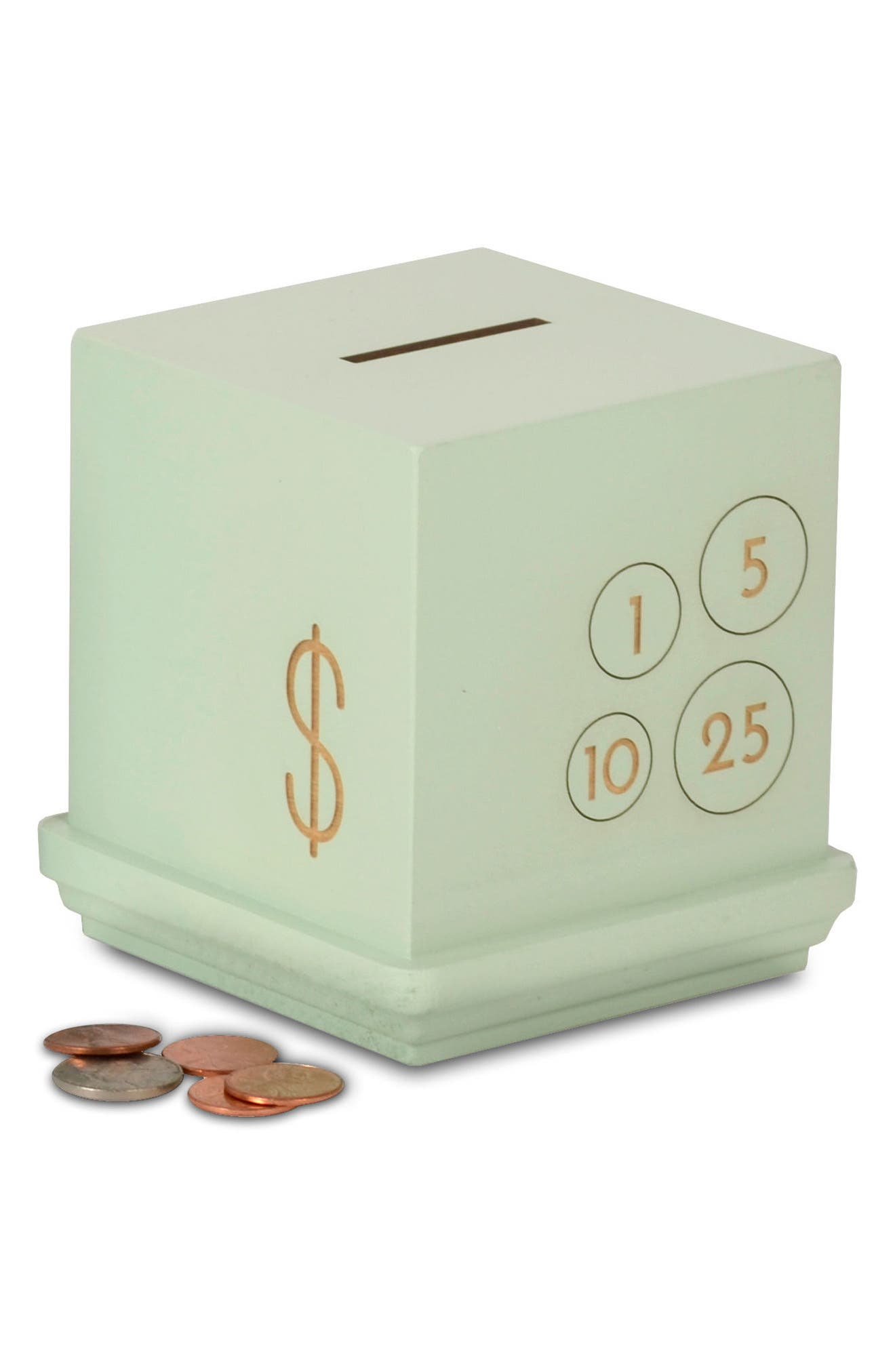 Cents Wooden Bank,                         Main,                         color, 300