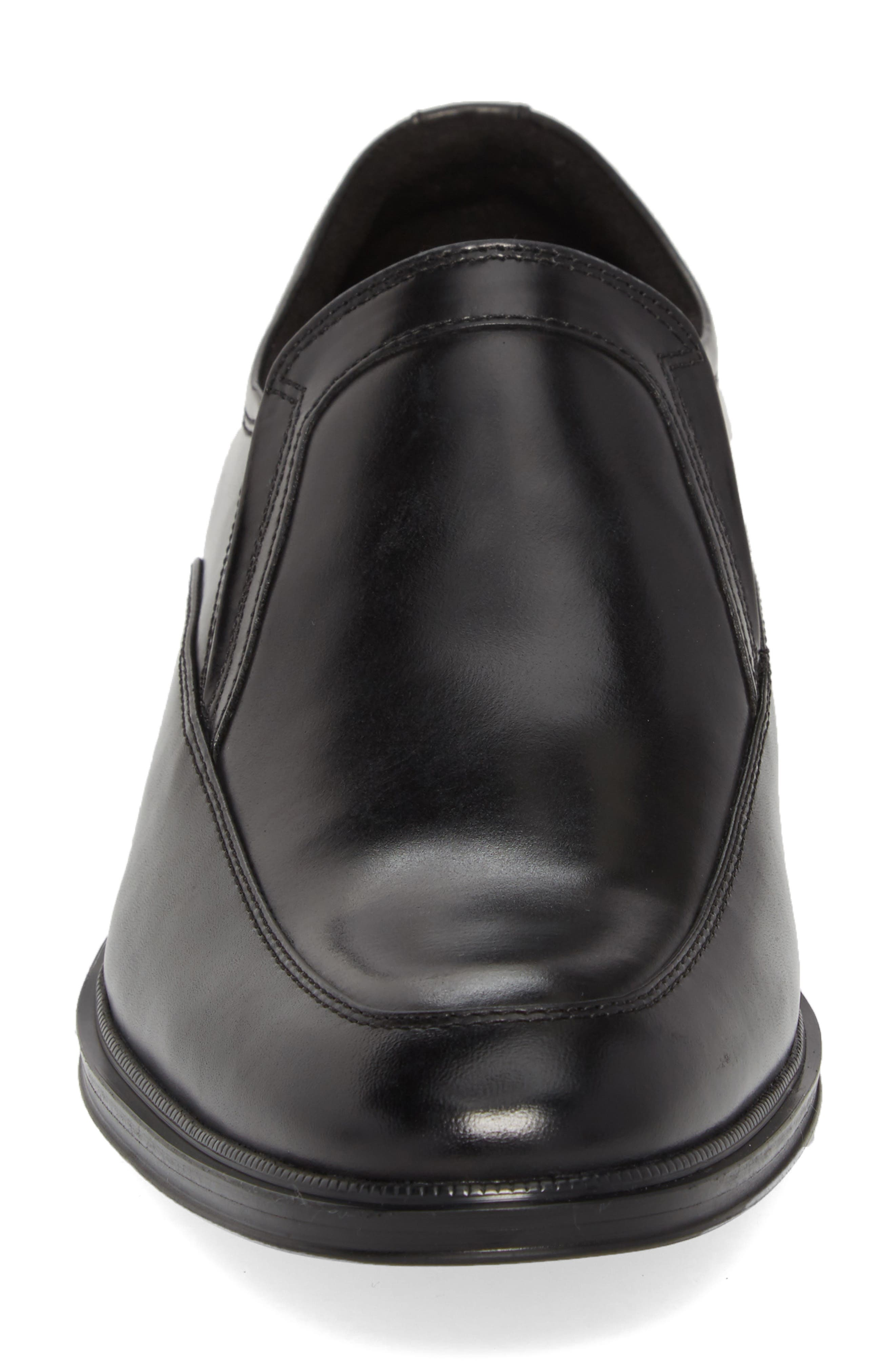 KENNETH COLE NEW YORK,                             Tully Venetian Loafer,                             Alternate thumbnail 4, color,                             BLACK LEATHER