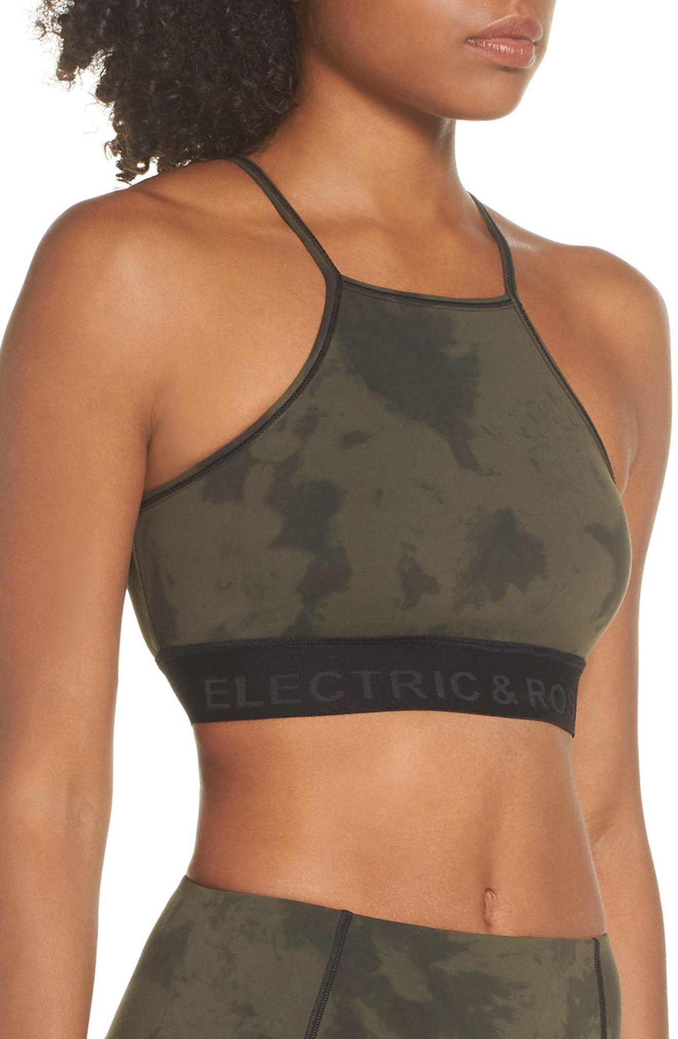 Nova Sports Bra,                             Alternate thumbnail 3, color,                             GALAXY ARMY