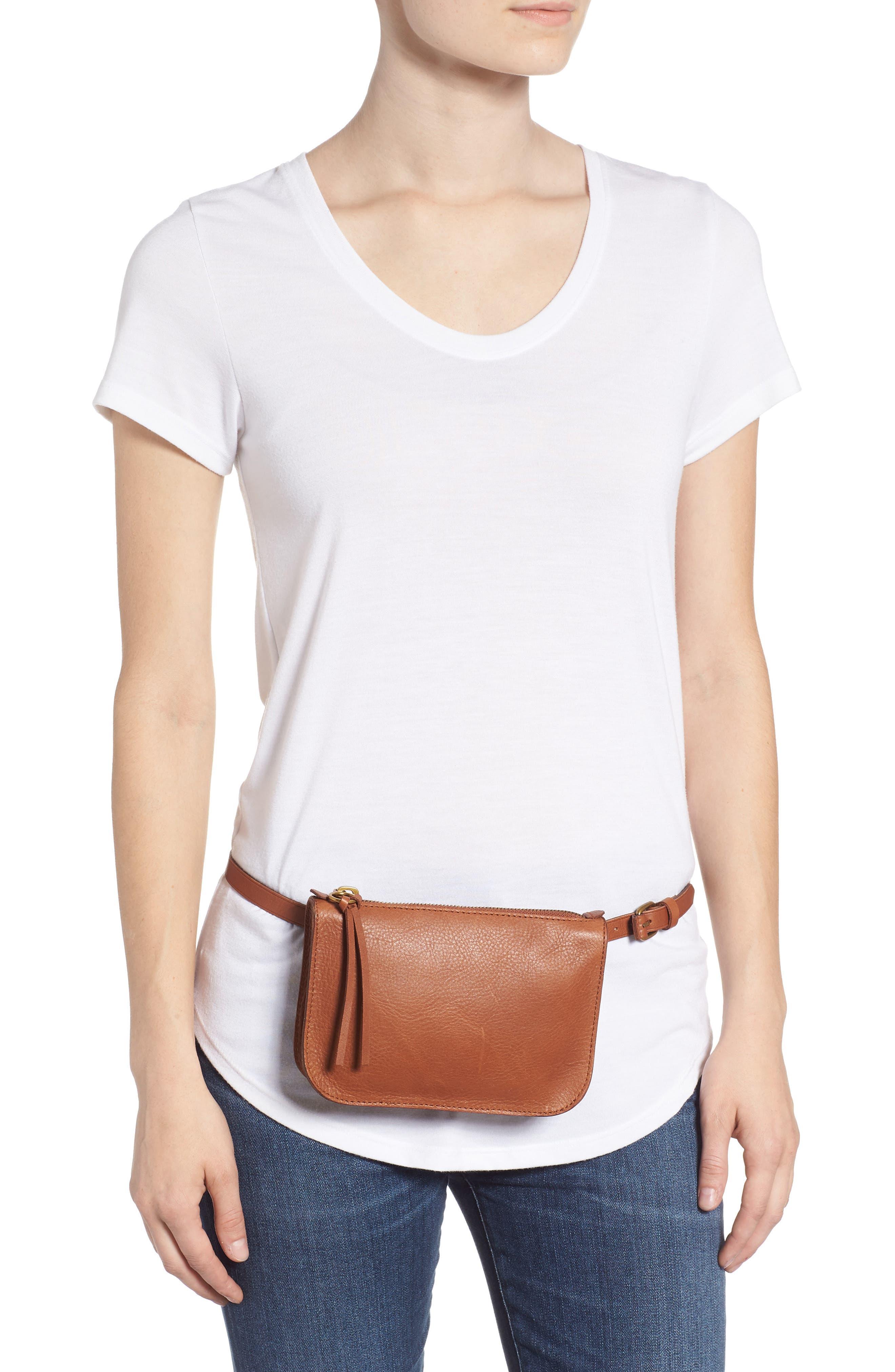 The Simple Pouch Belt Bag,                             Alternate thumbnail 2, color,                             ENGLISH SADDLE