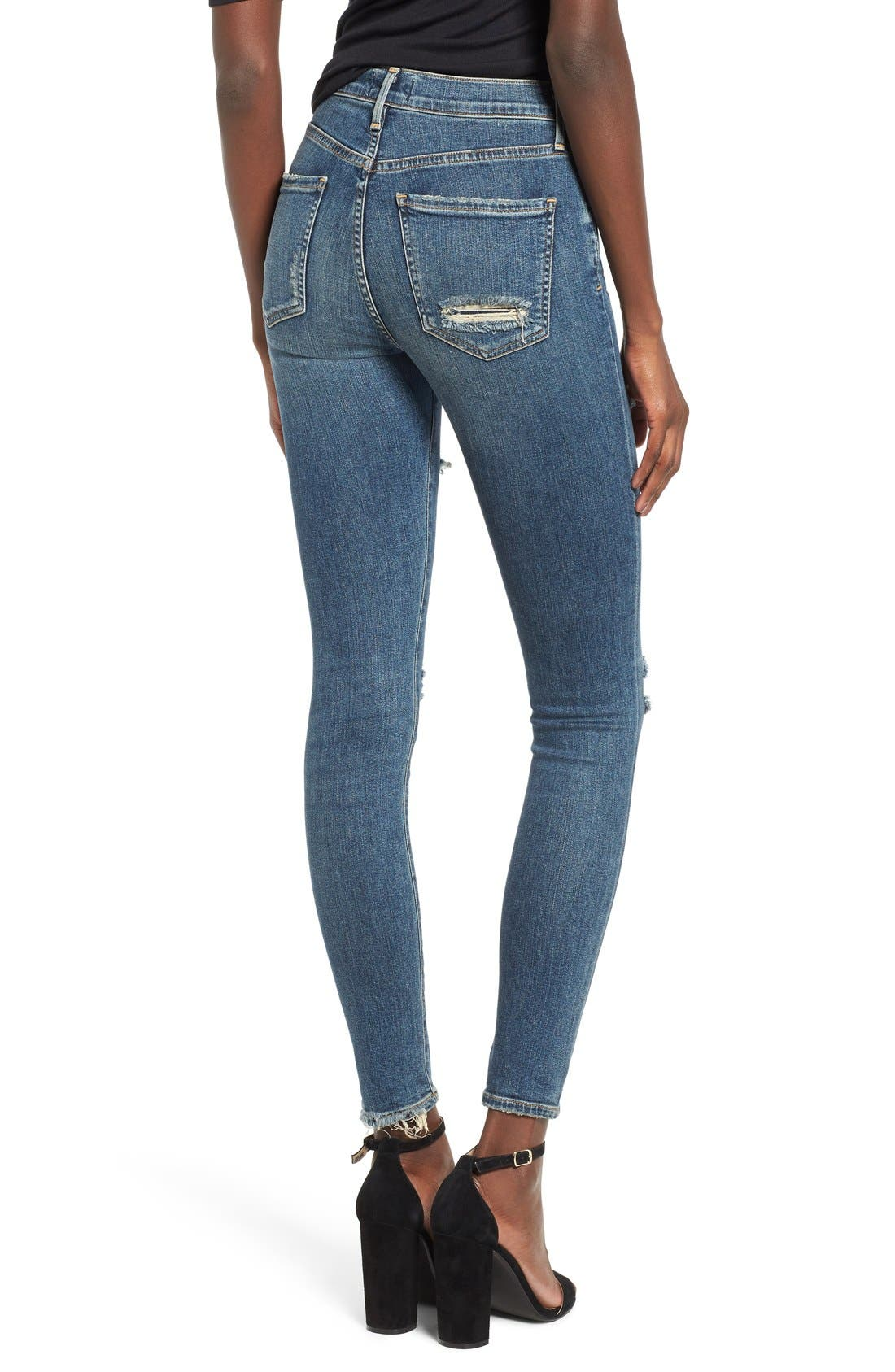 'Sophie' High Rise Skinny Jeans,                             Alternate thumbnail 2, color,                             KANSAS CITY