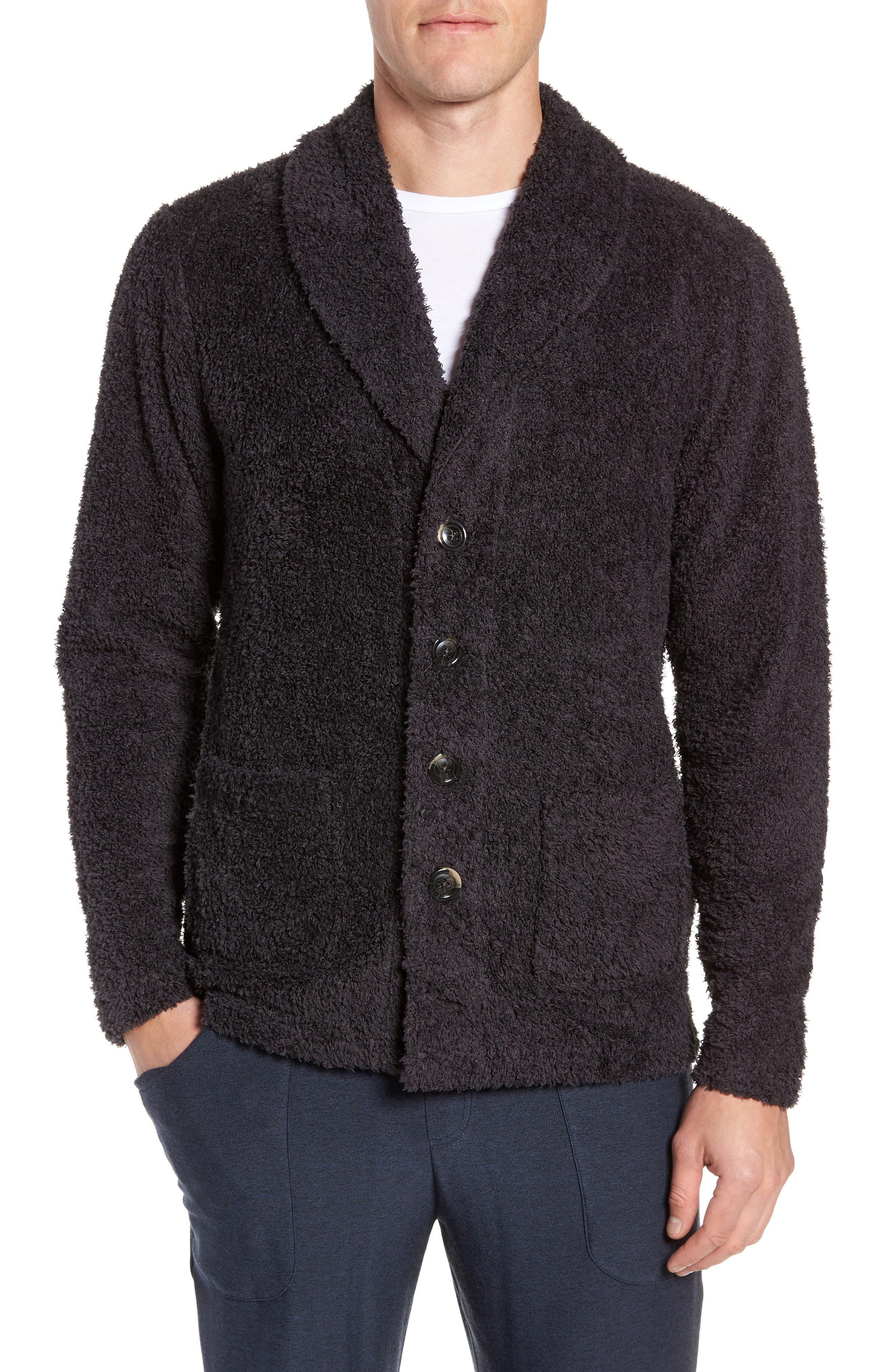 Nordstrom Shop Fleece Cardigan, Grey