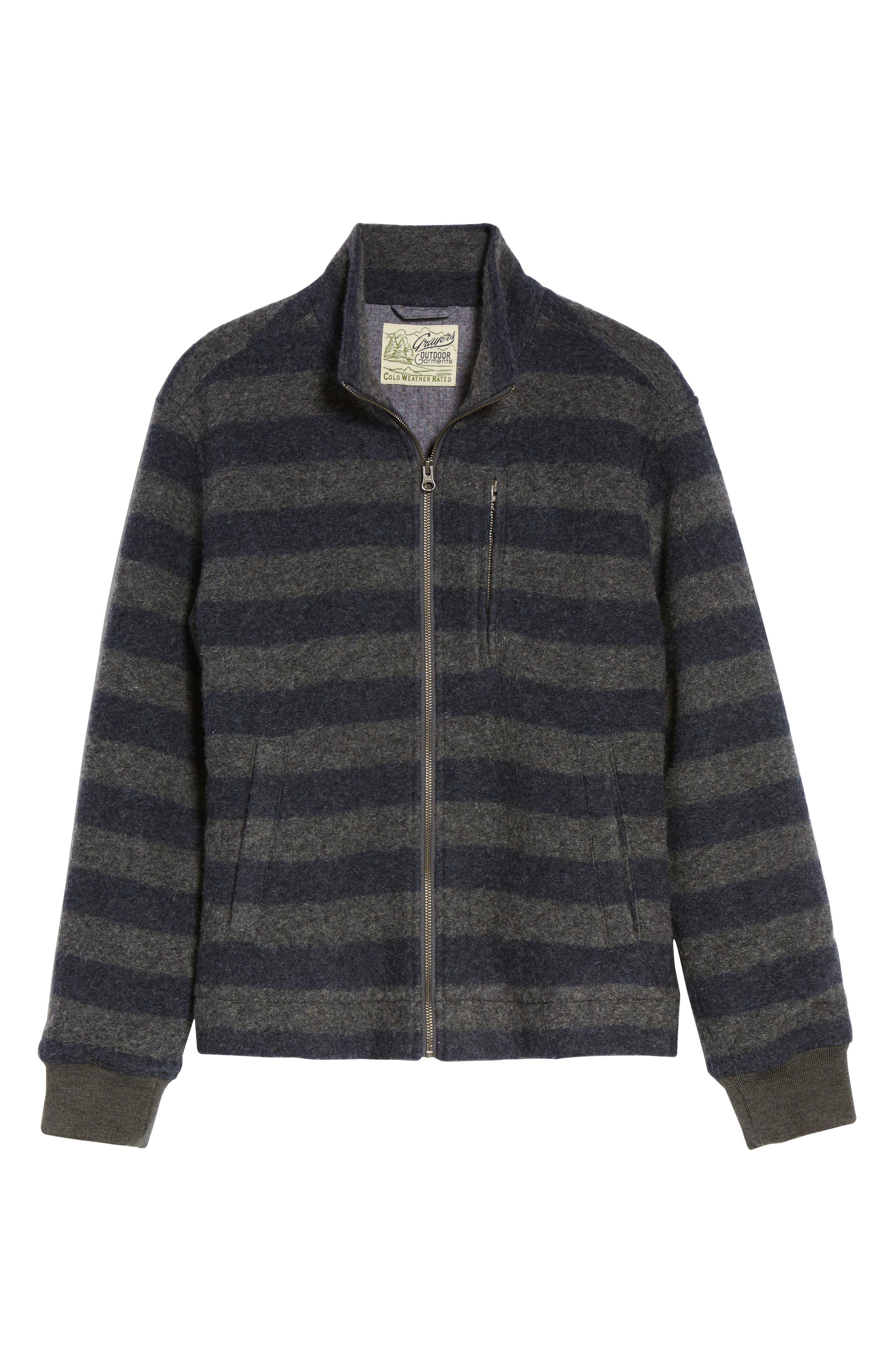 Bowen Stripe Zip Front Jacket,                             Alternate thumbnail 5, color,                             089