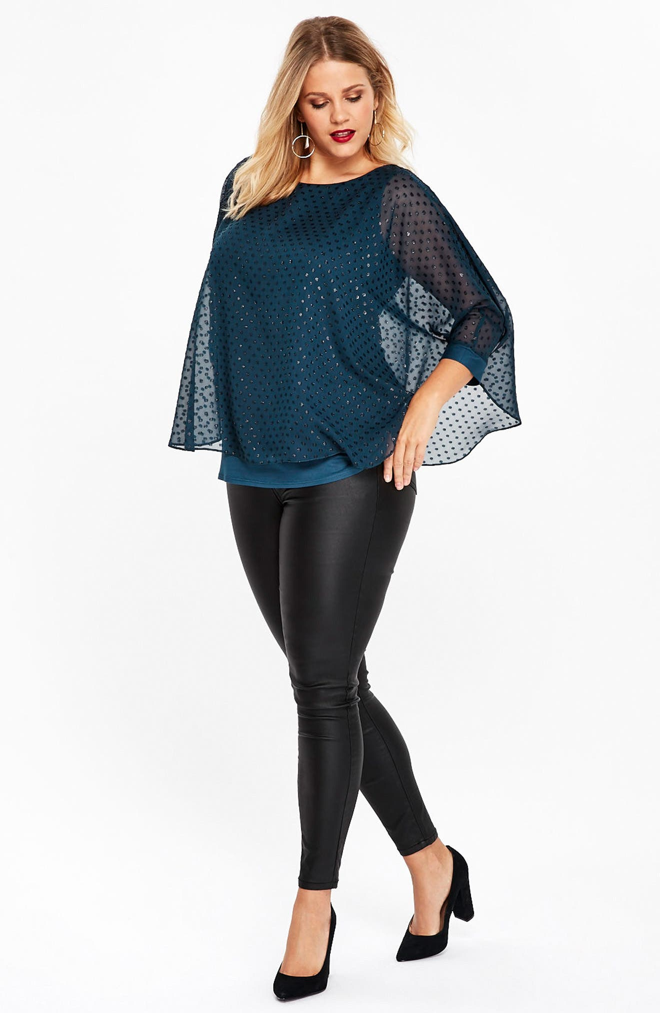 Sparkle Overlay Top,                             Alternate thumbnail 4, color,