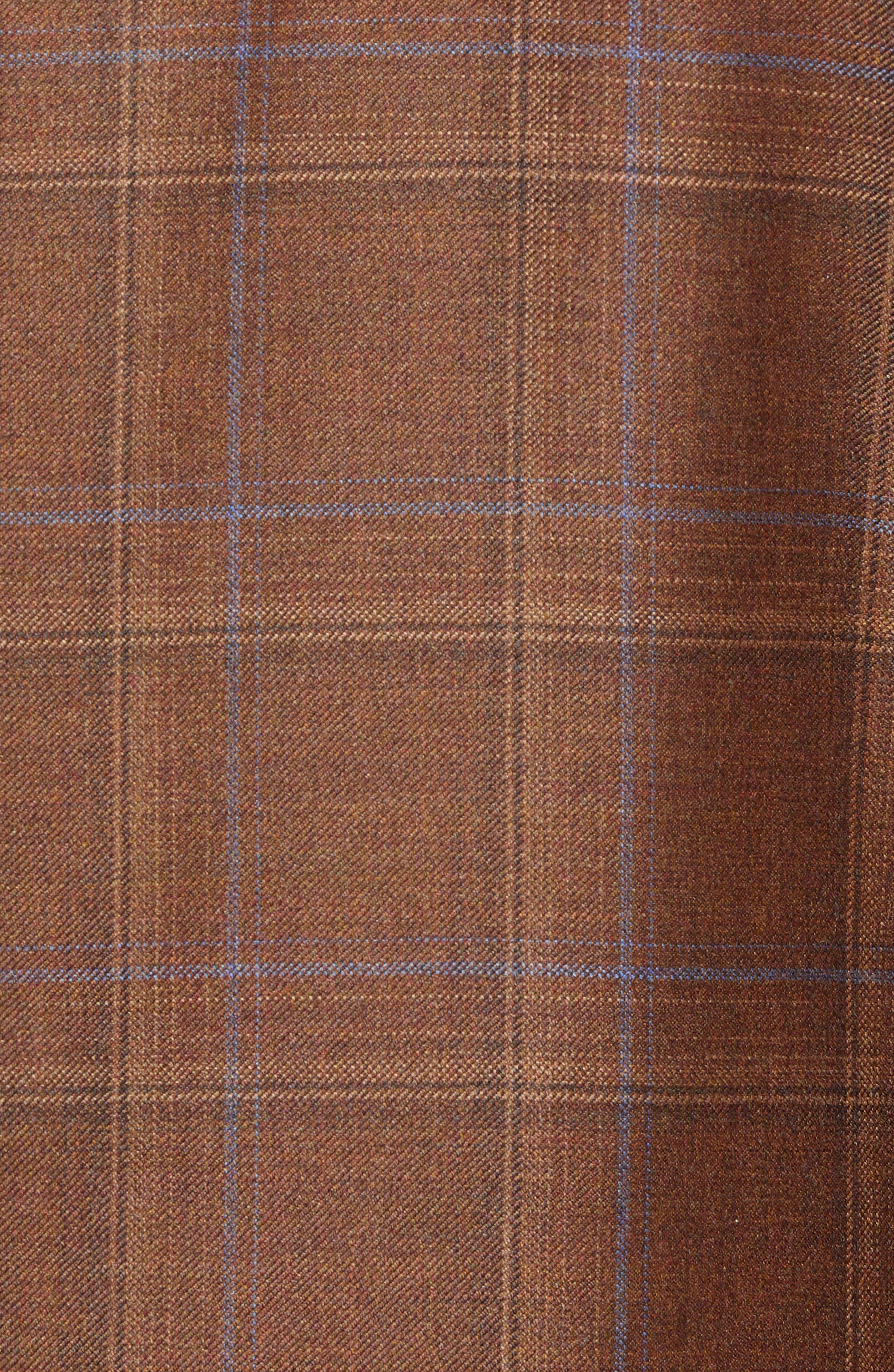 Arnold Classic Fit Plaid Wool Sport Coat,                             Alternate thumbnail 6, color,                             200