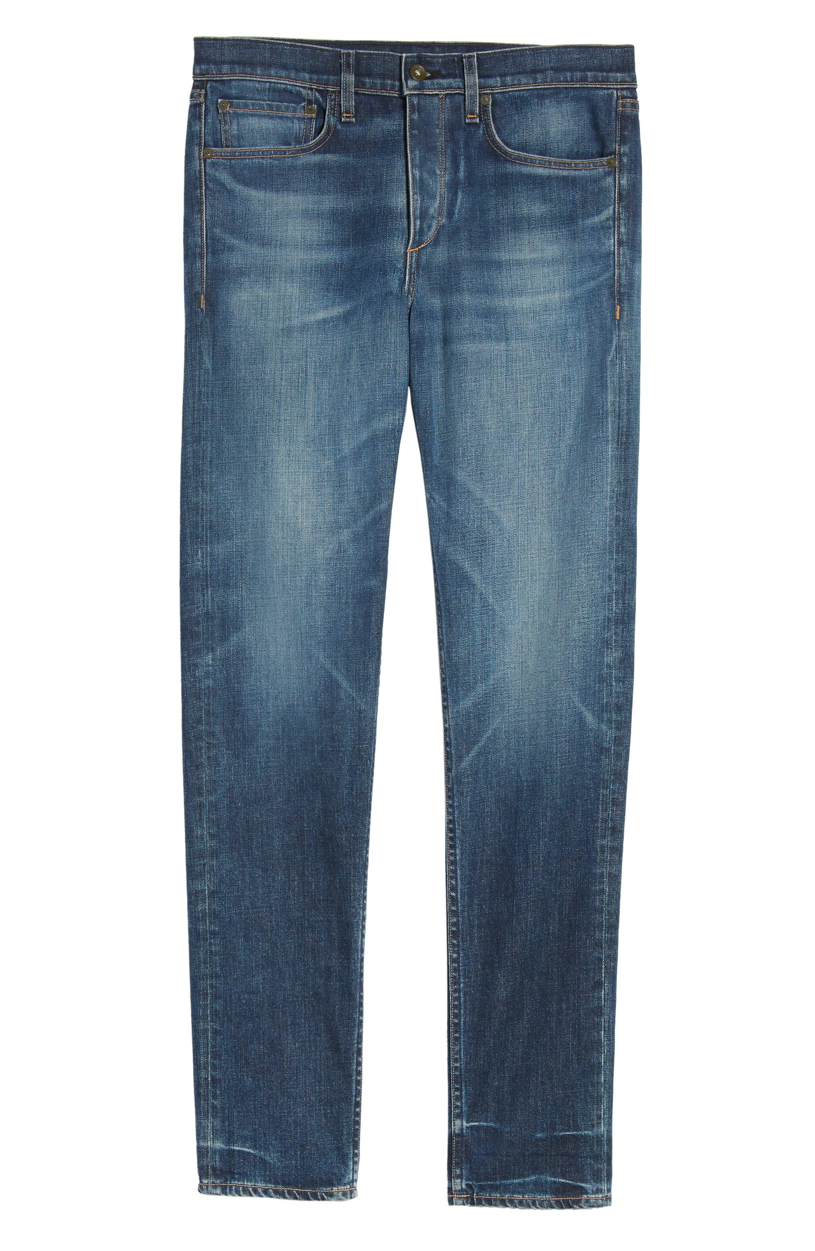 Fit 2 Slim Fit Jeans,                             Alternate thumbnail 6, color,                             LINDEN
