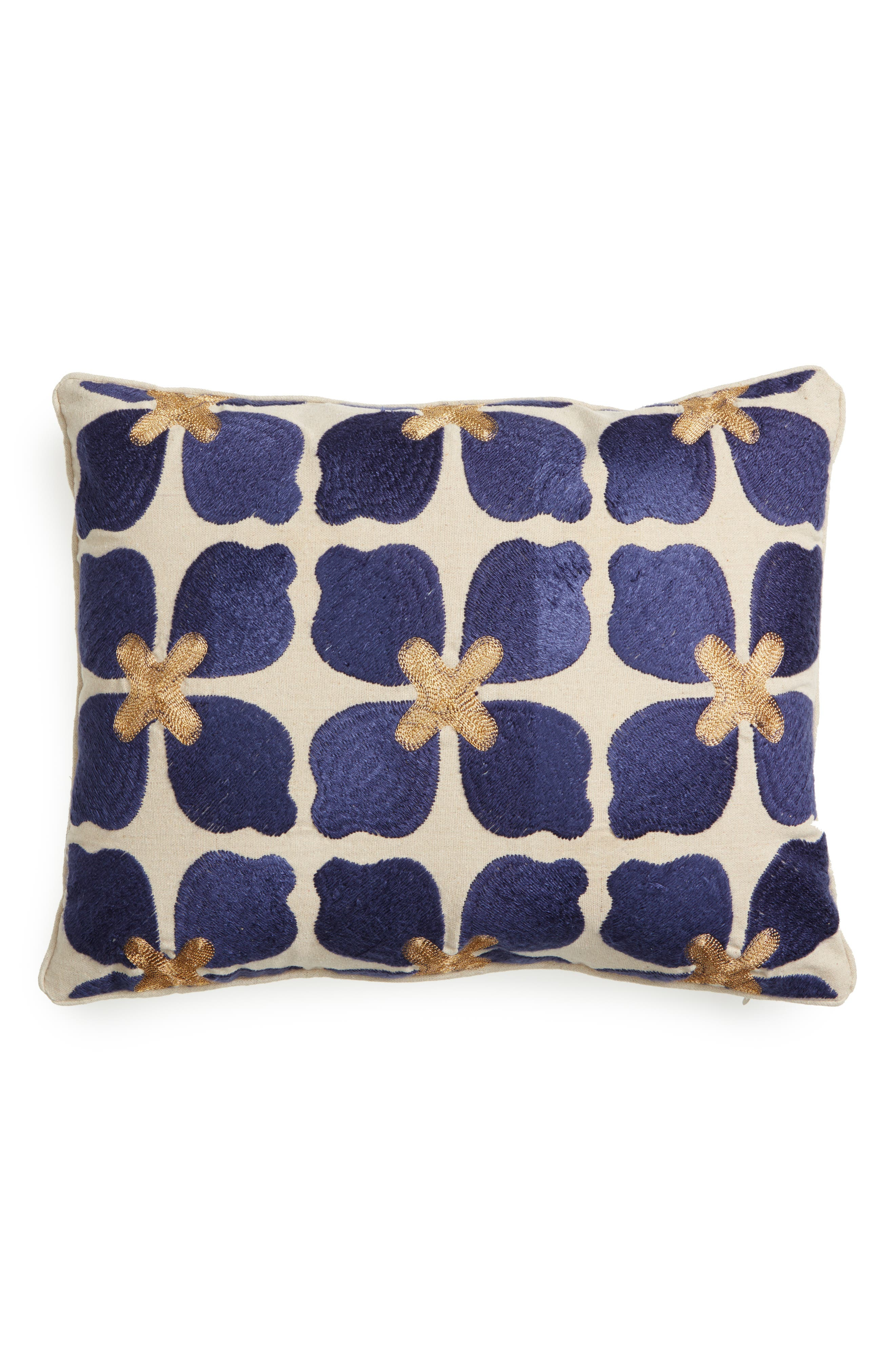 Beckett Embroidered Pillow,                         Main,                         color,